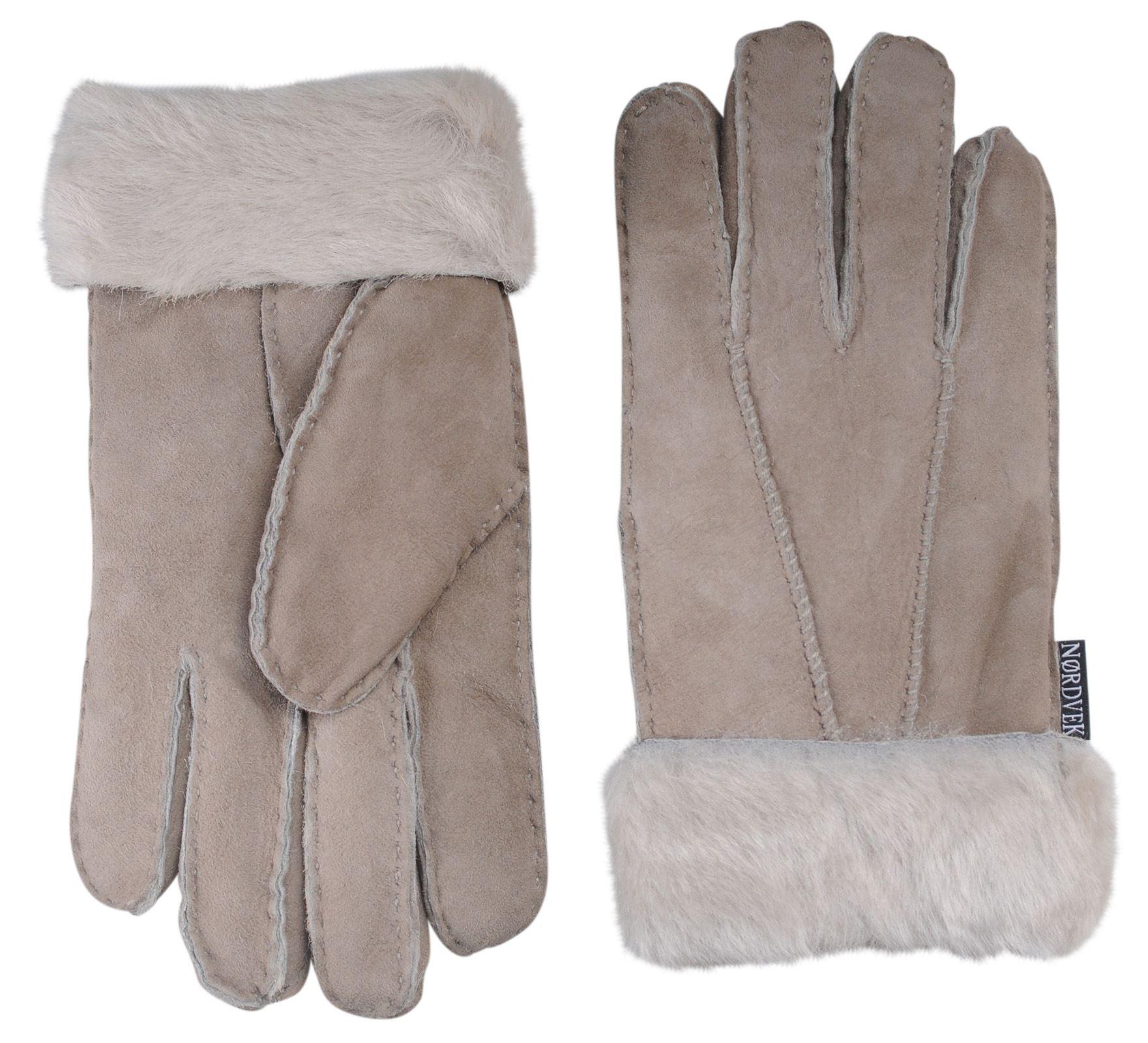 Nordvek 100/% Sheepskin Gloves Ladies Venitian Grey Size XL  Brand New taupe