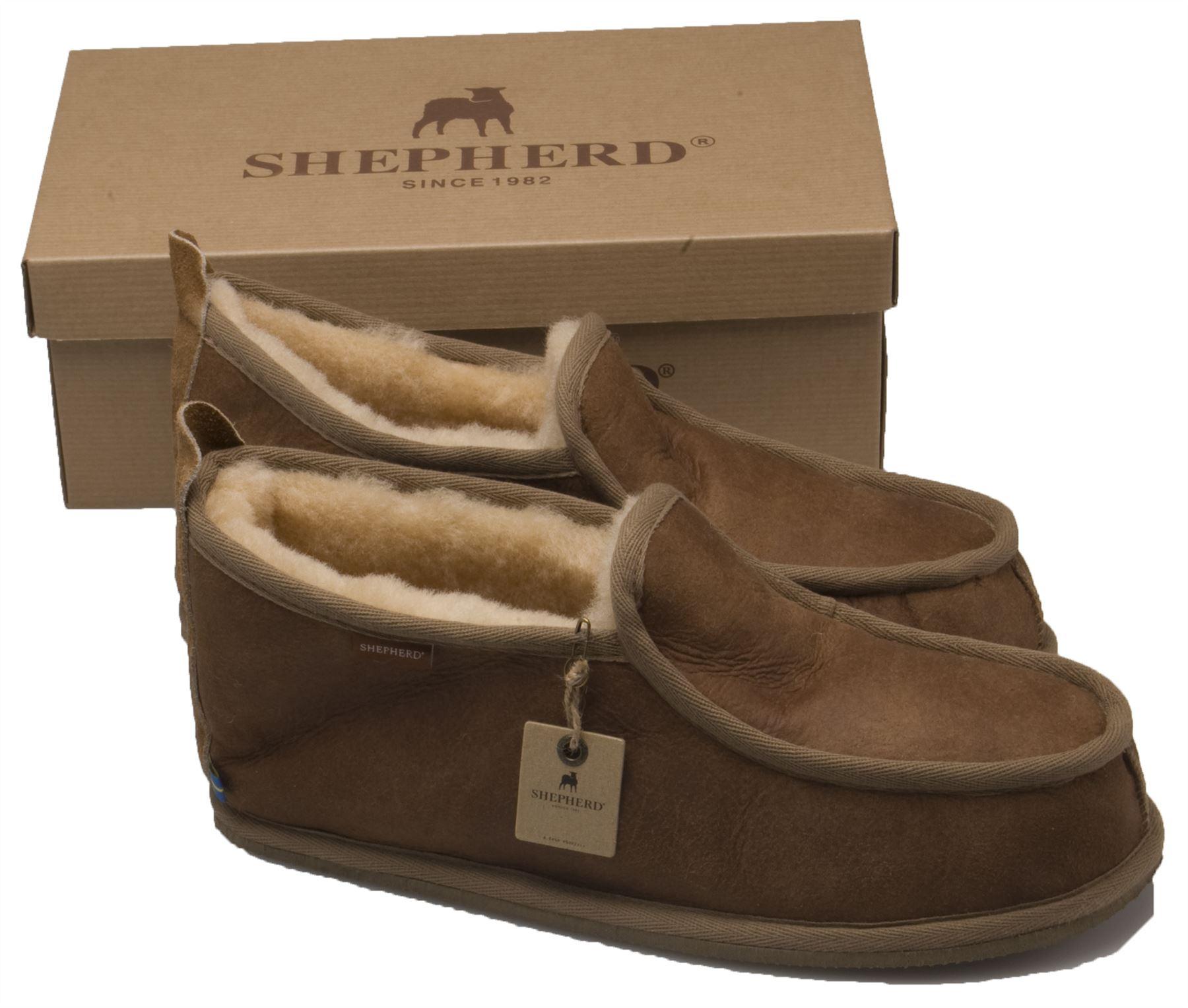 68c0d523e29 Details about Shepherd Mens Genuine Sheepskin Slippers Hard Rubber Sole  Real ARNE 475