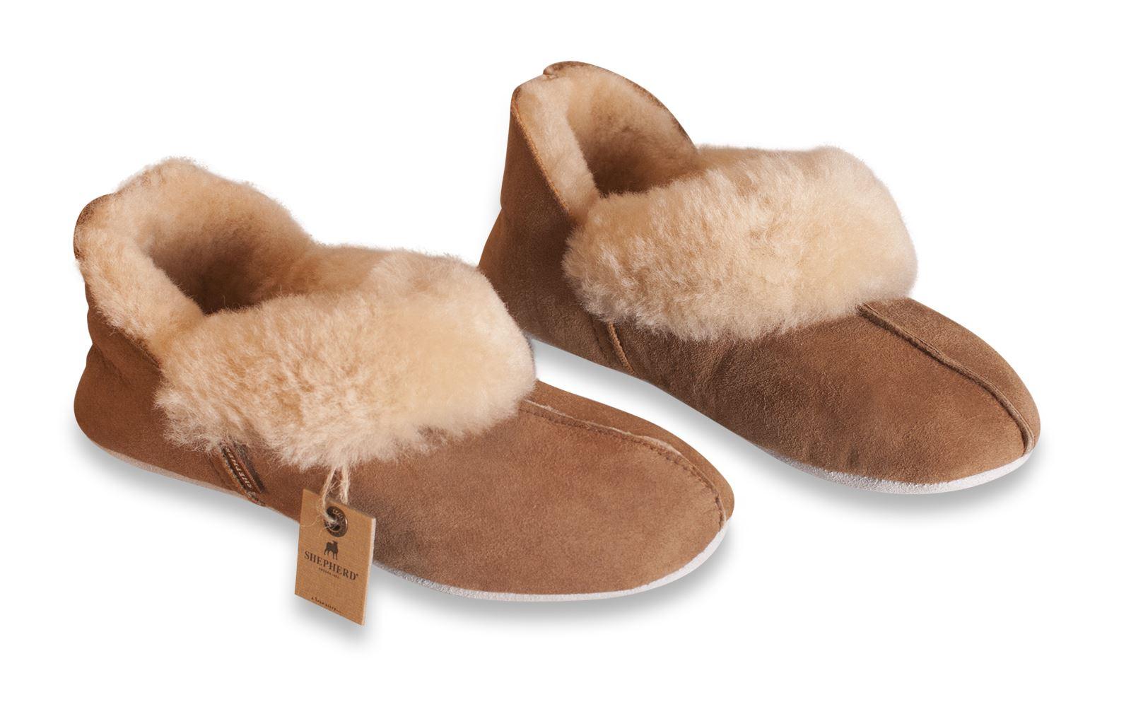 "Ladies Genuine Soft Sole Sheepskin Slippers Shepherd /""Very Warm/"" Bright Red EMMY"