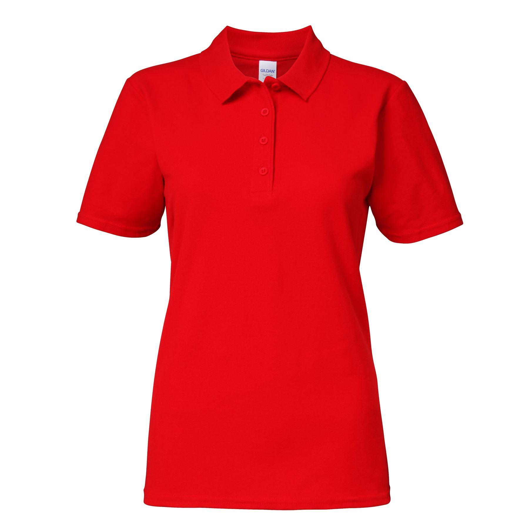 3-5-10-Pack-Gildan-GD018-Women-039-s-softstyle-double-pique-polo-S-2XL-lot