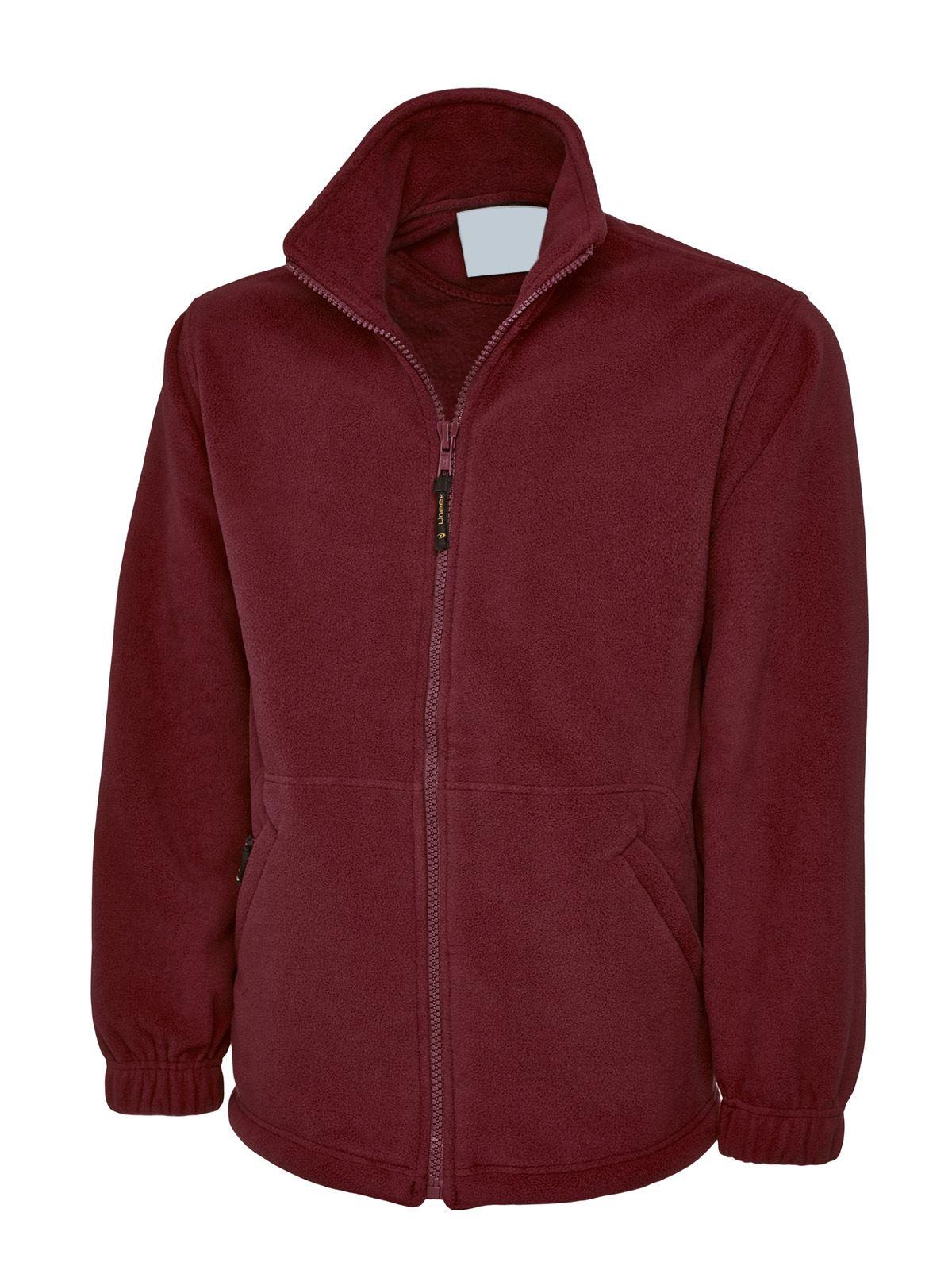 Mens & Womens Classic Full Zip Micro Fleece Jacket Zip Up ...