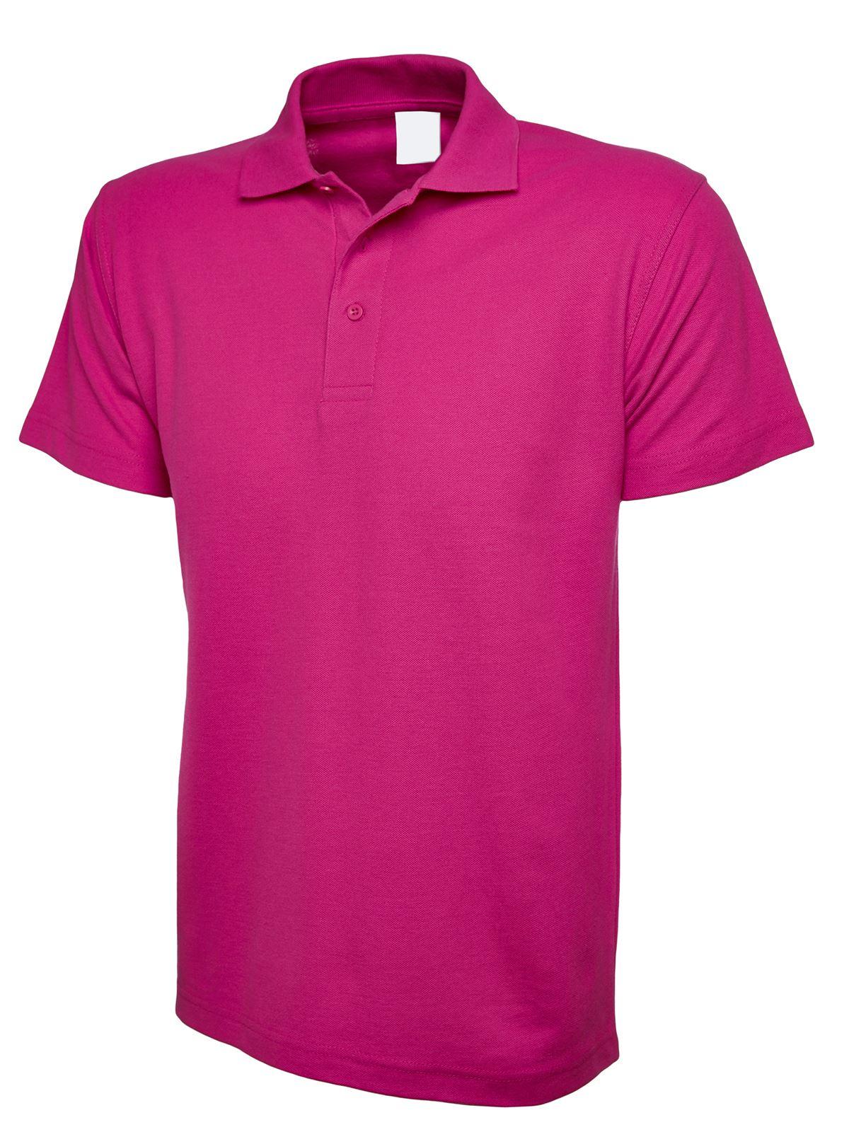 Mens Womens Classic Polo Shirt Blank Plain Short Sleeve