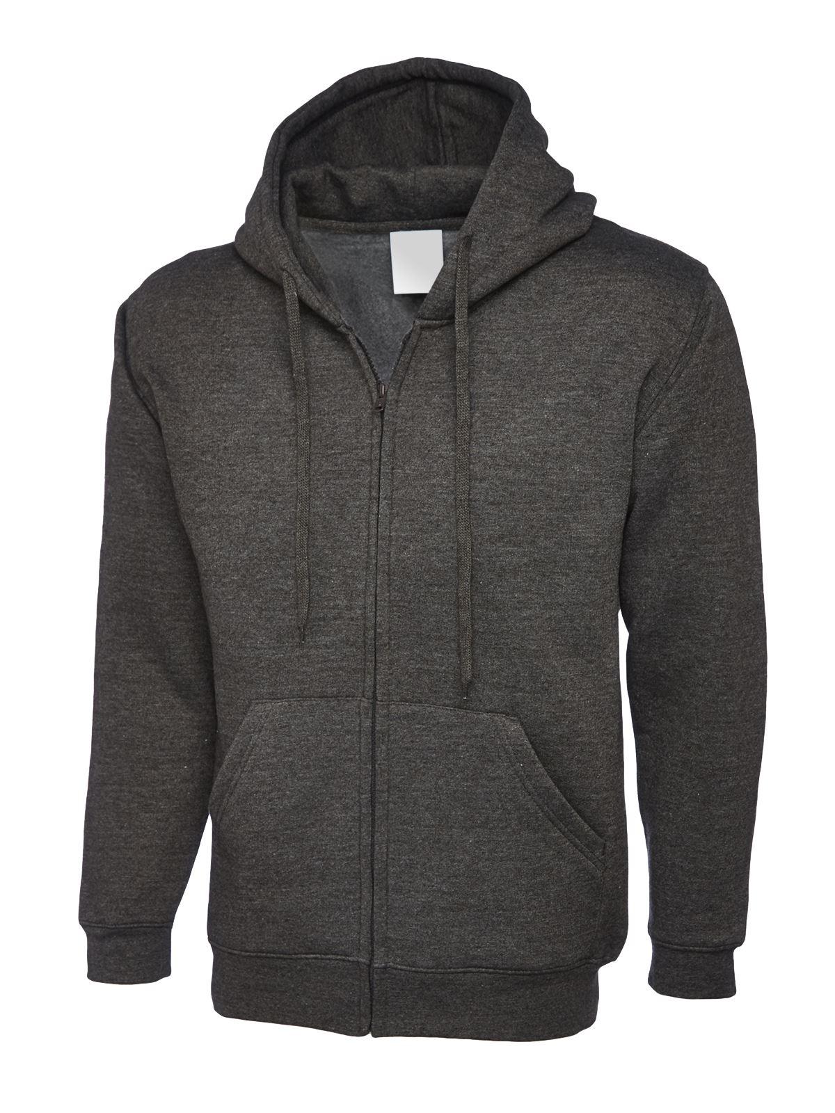 Mens & Womens Full Zip Hooded Sweatshirt Hoodie Jumper ...
