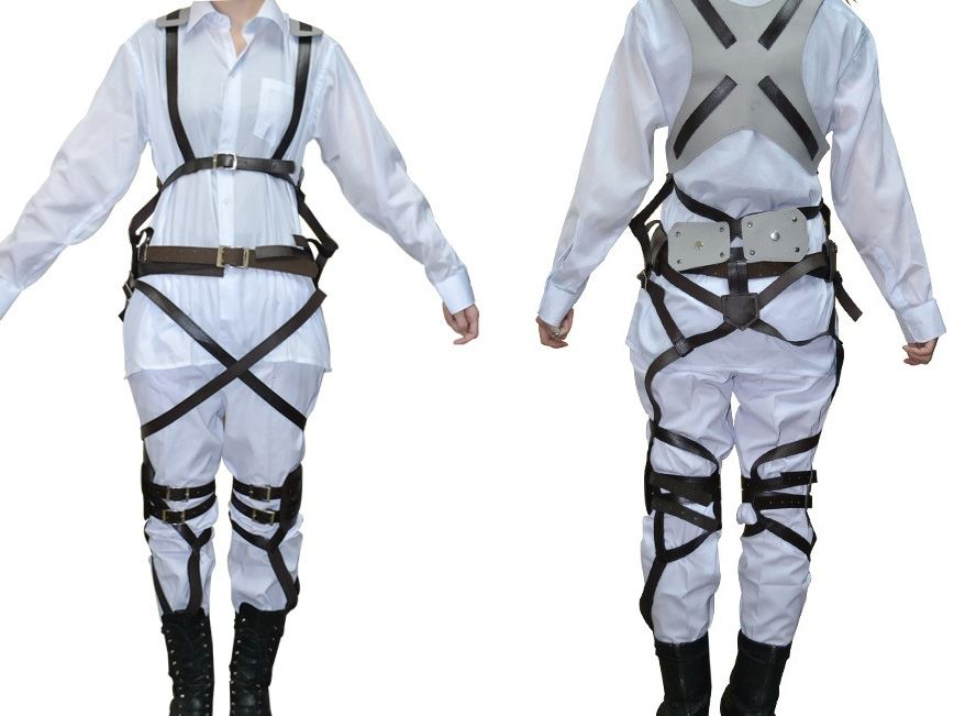 Attack on Titan shingeki no kyojin Cosplay Costume Jacket/ Skirt /Harness Straps   eBay