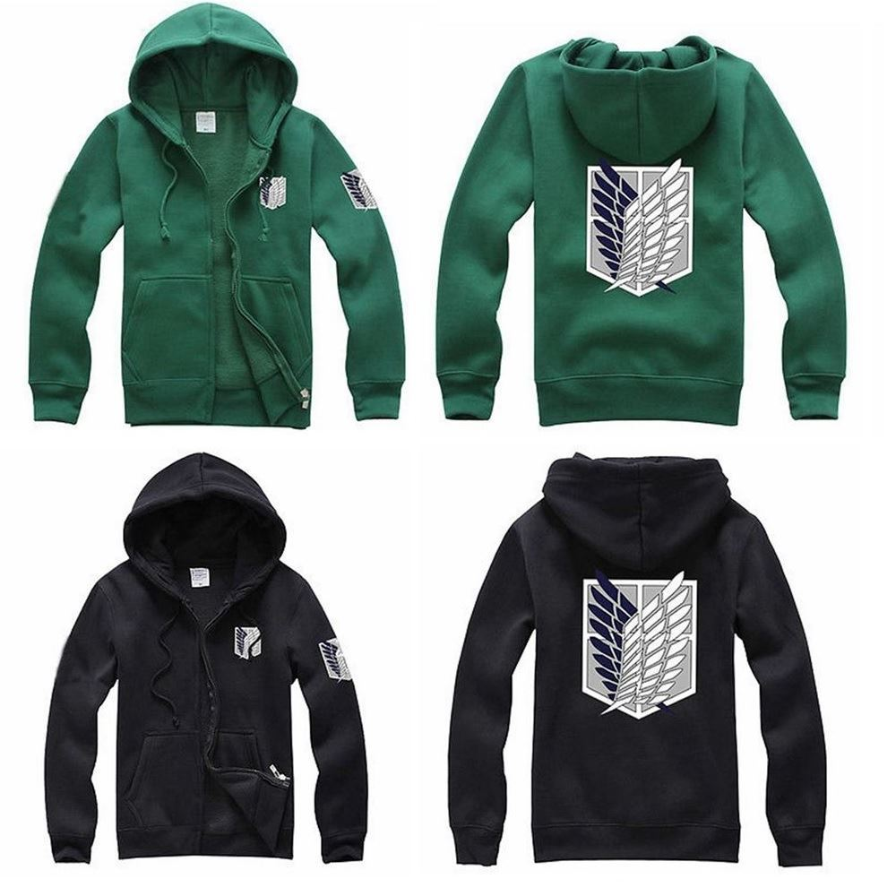 Romantic Attack On Titan Shingeki No Kyojin Hoodie Black Green Jacket Costume Uk Seller Hoodies & Sweatshirts