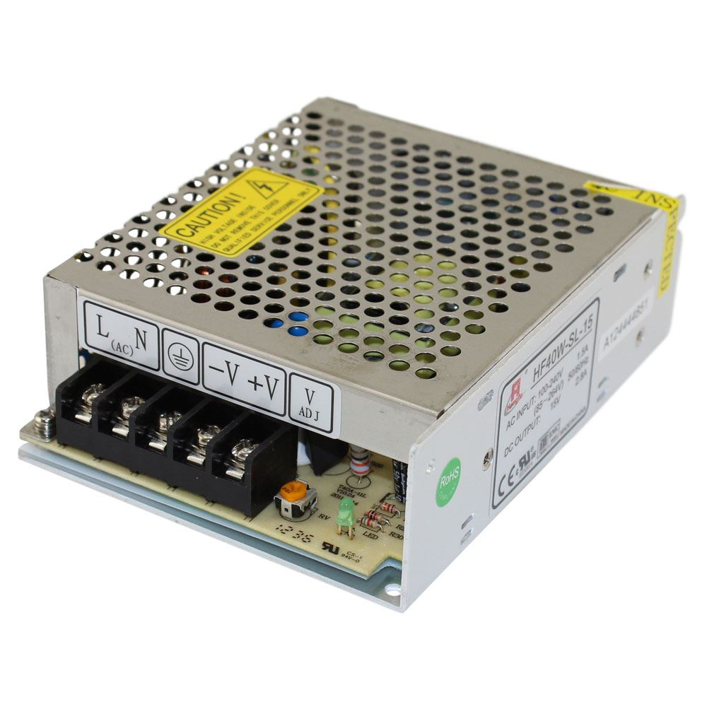 15 Volt Dc Power Supply Enclosed Switch Mode 15v 28a 40w