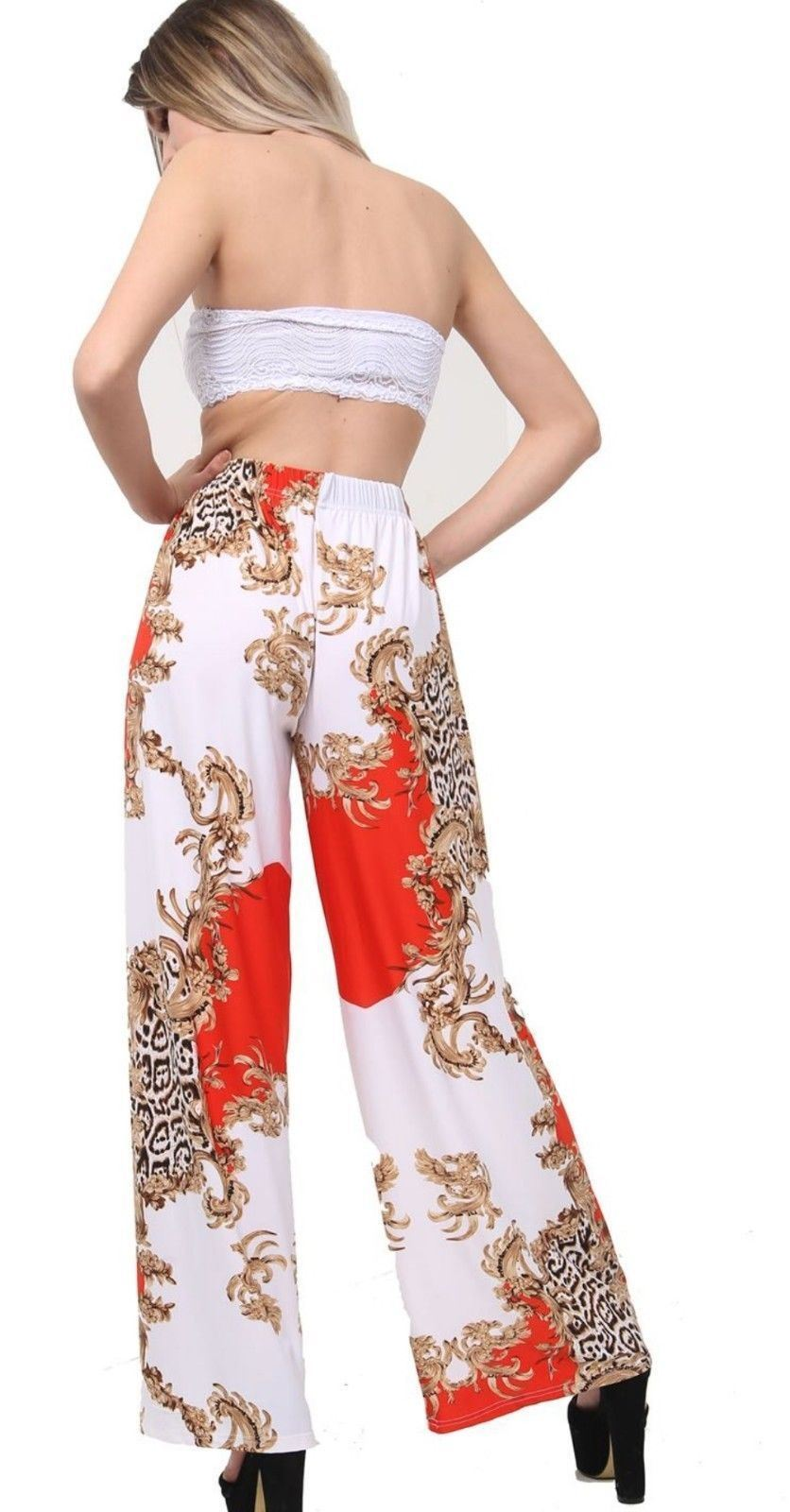 New-Ladies-Floral-Printed-Wide-Leg-Flared-Parallel-Baggy-Trousers-Pants-Palazzo thumbnail 43
