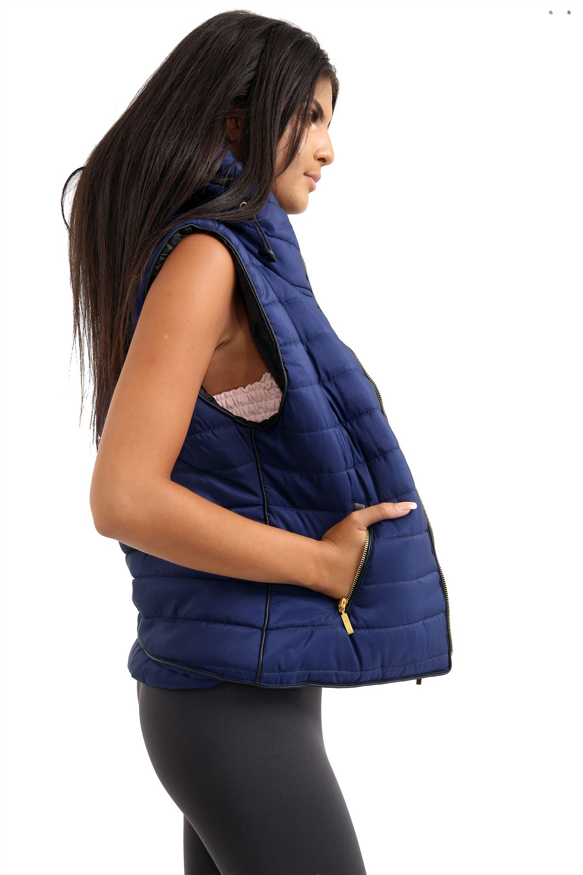 Ladies-Gilet-Quilted-Padded-Body-Warmer-Sleeveless-Fur-Collar-Puffer-Jacket-Coat thumbnail 14