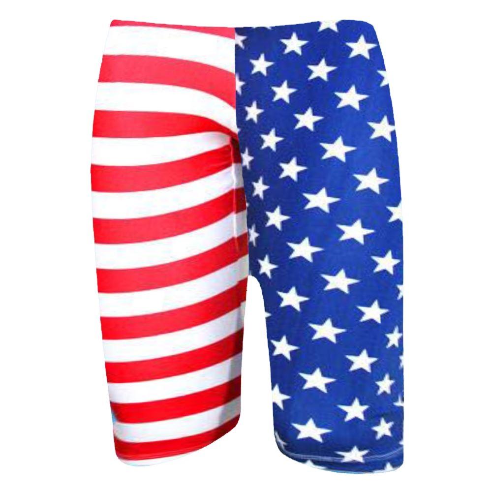 New Womens American Flag Stars And Stripes USA Print Summer Cycling Shorts  Pants e3febe80bb