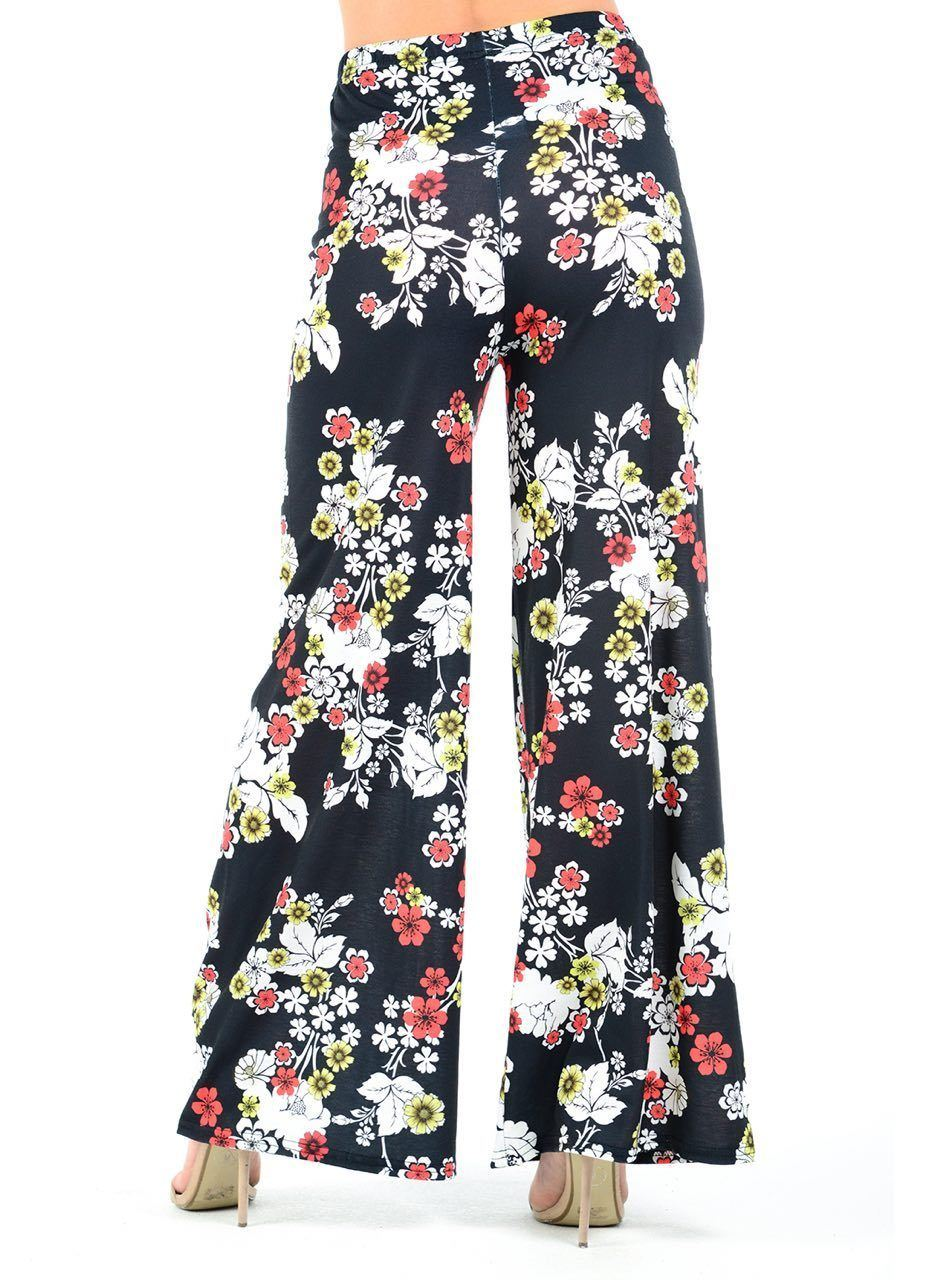New-Ladies-Floral-Printed-Wide-Leg-Flared-Parallel-Baggy-Trousers-Pants-Palazzo thumbnail 80