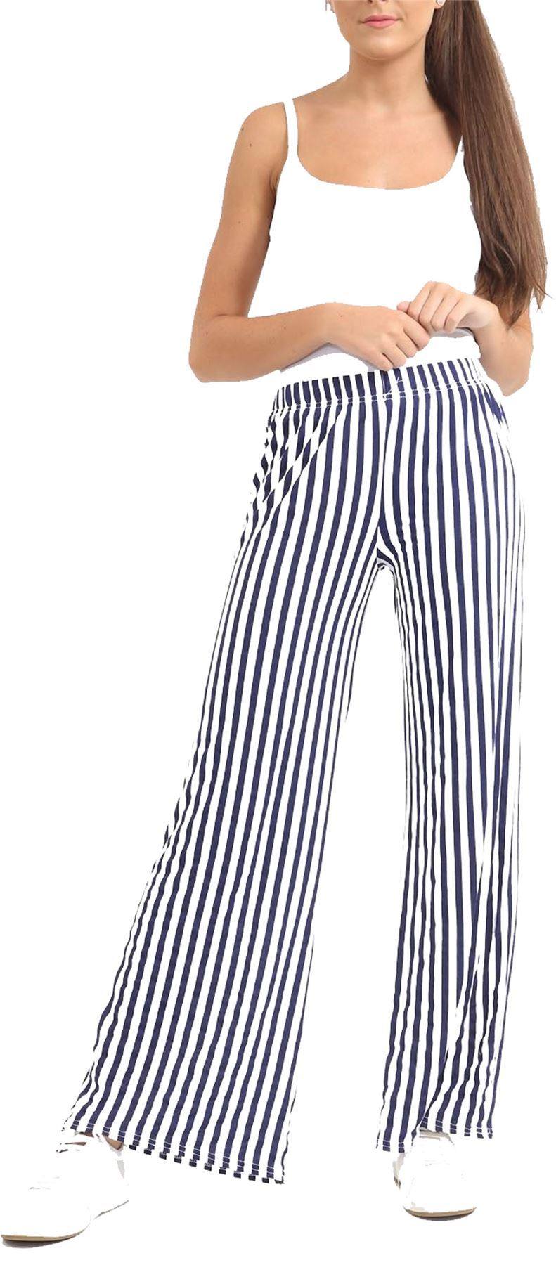 New-Ladies-Floral-Printed-Wide-Leg-Flared-Parallel-Baggy-Trousers-Pants-Palazzo thumbnail 50