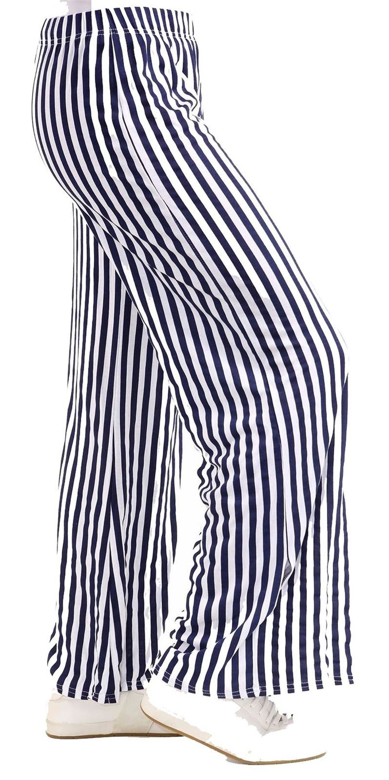 New-Ladies-Floral-Printed-Wide-Leg-Flared-Parallel-Baggy-Trousers-Pants-Palazzo thumbnail 49