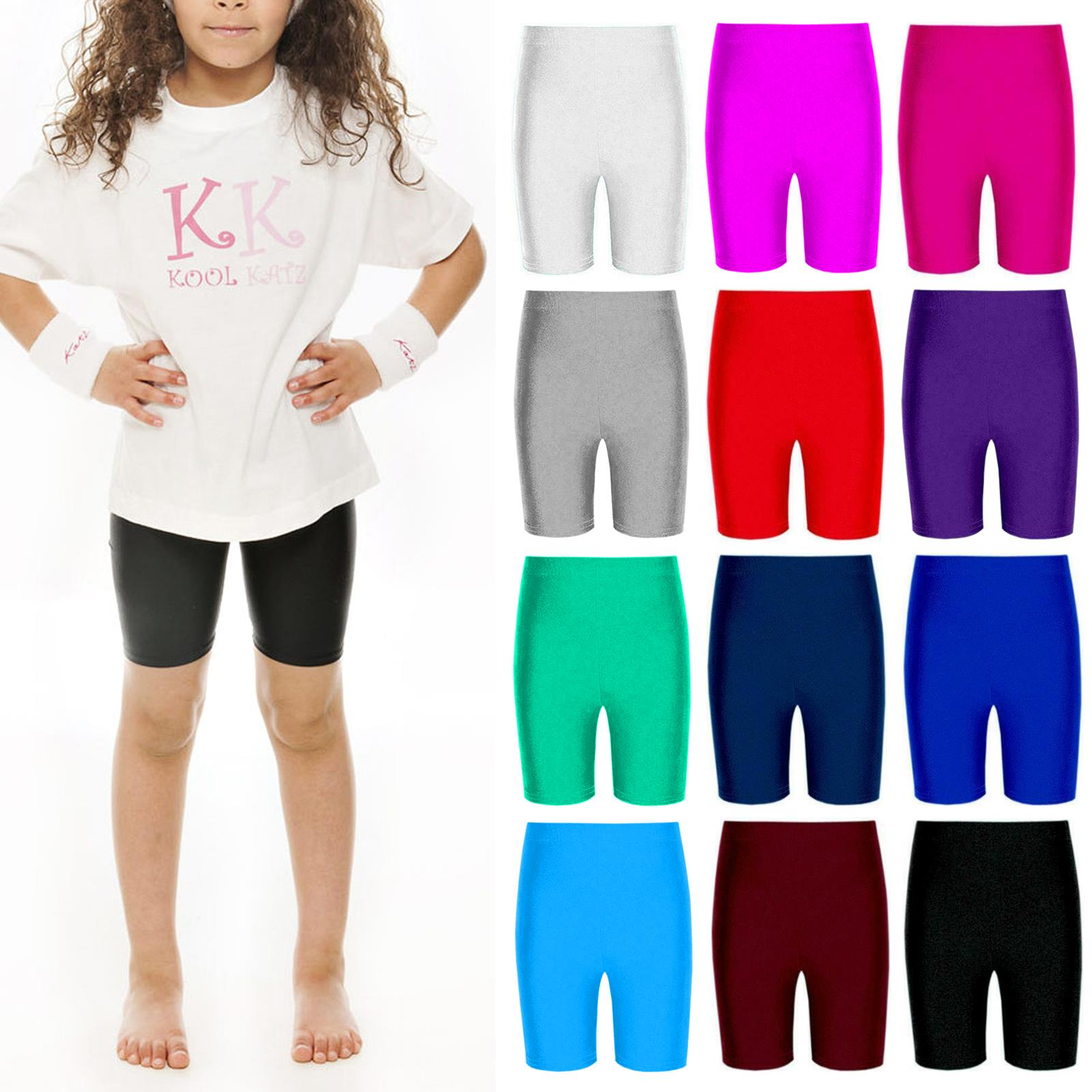 GYMNASTICS NYLON LYCRA CYCLE SHORTS IN 7 COLOURS DANCE