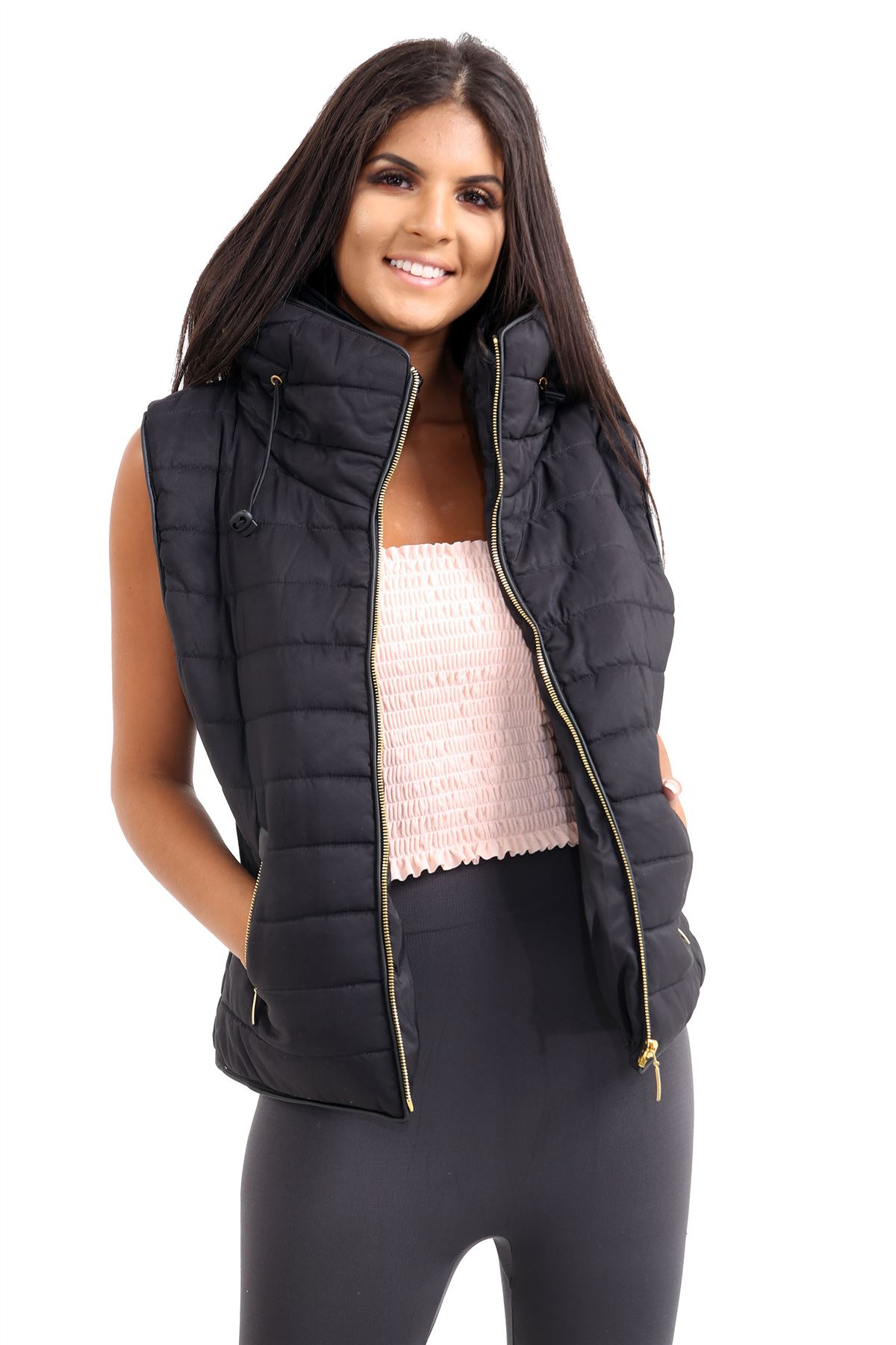 Ladies-Gilet-Quilted-Padded-Body-Warmer-Sleeveless-Fur-Collar-Puffer-Jacket-Coat thumbnail 6