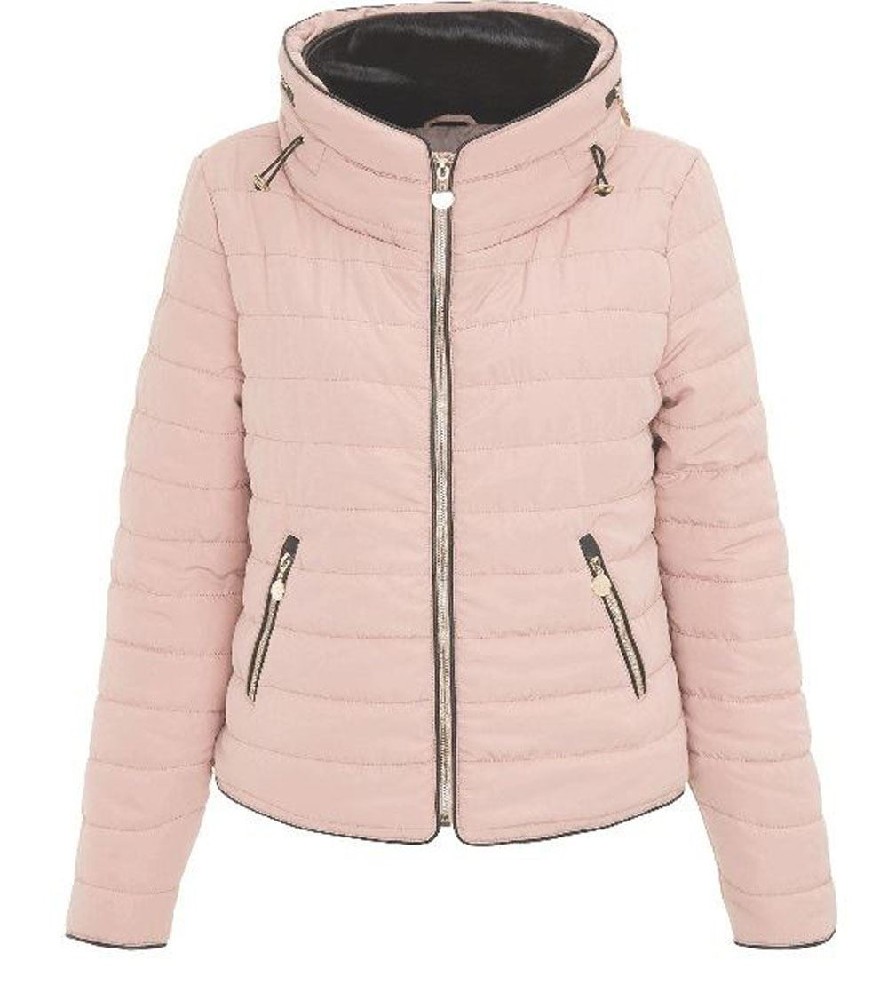 e2a738767652 New Girls Kids Puffer Bubble Padded Quilted Jacket Fur Collared Zip ...