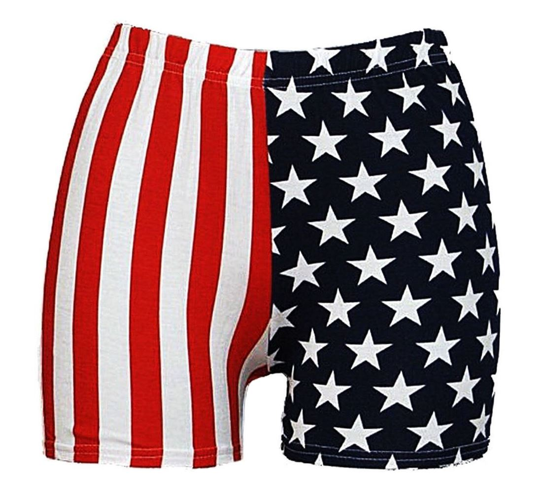 New Womens American USA Flag Stars And Stripes Printed Casual Hot Pants  Shorts 075f72bded