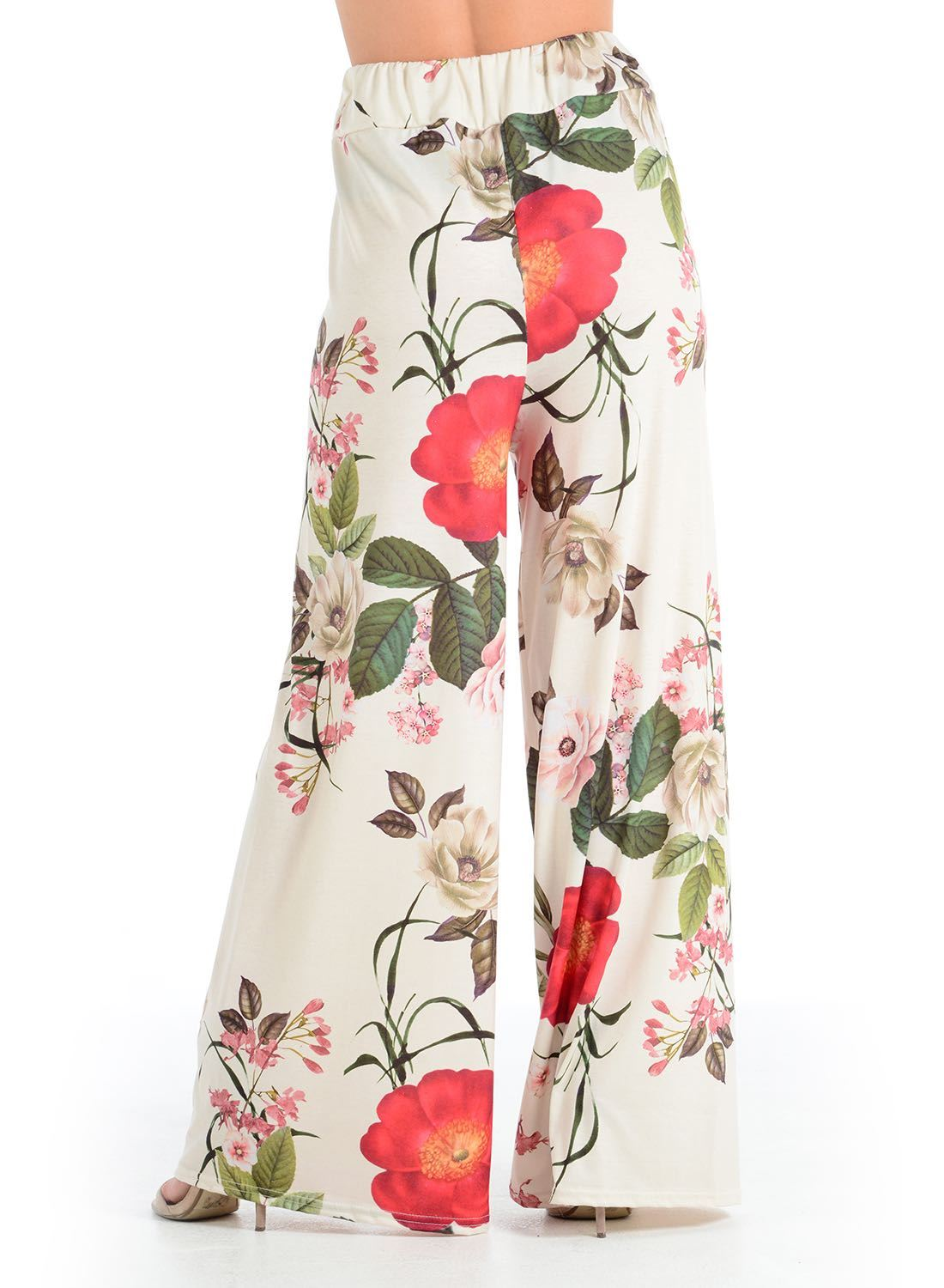 New-Ladies-Floral-Printed-Wide-Leg-Flared-Parallel-Baggy-Trousers-Pants-Palazzo thumbnail 28