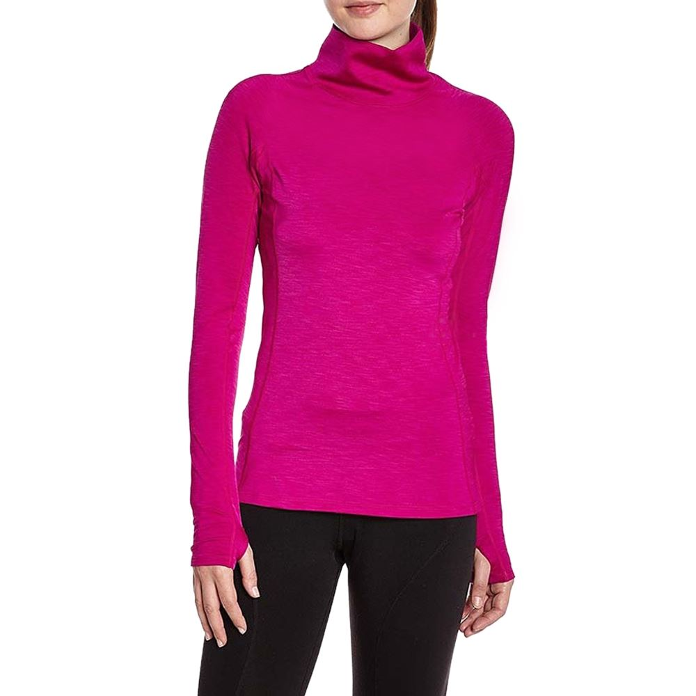 Women/'s Ladies Stretch Bodycon Polo Turtle Neck Long Thumb Hole Sleeve Tunic Top