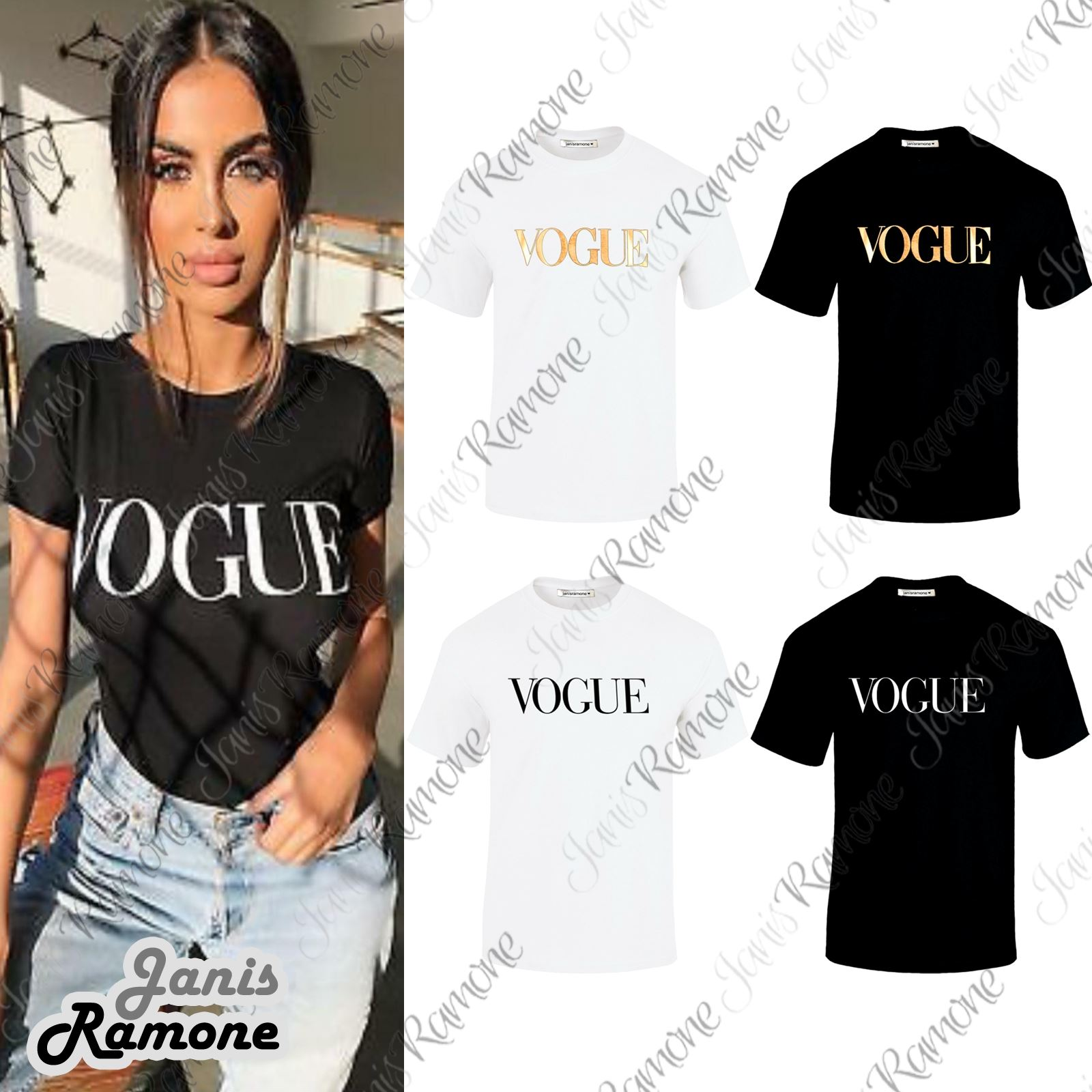 New Ladies Vogue Slogan Print Women Casual Short Sleeve T Shirt Top New