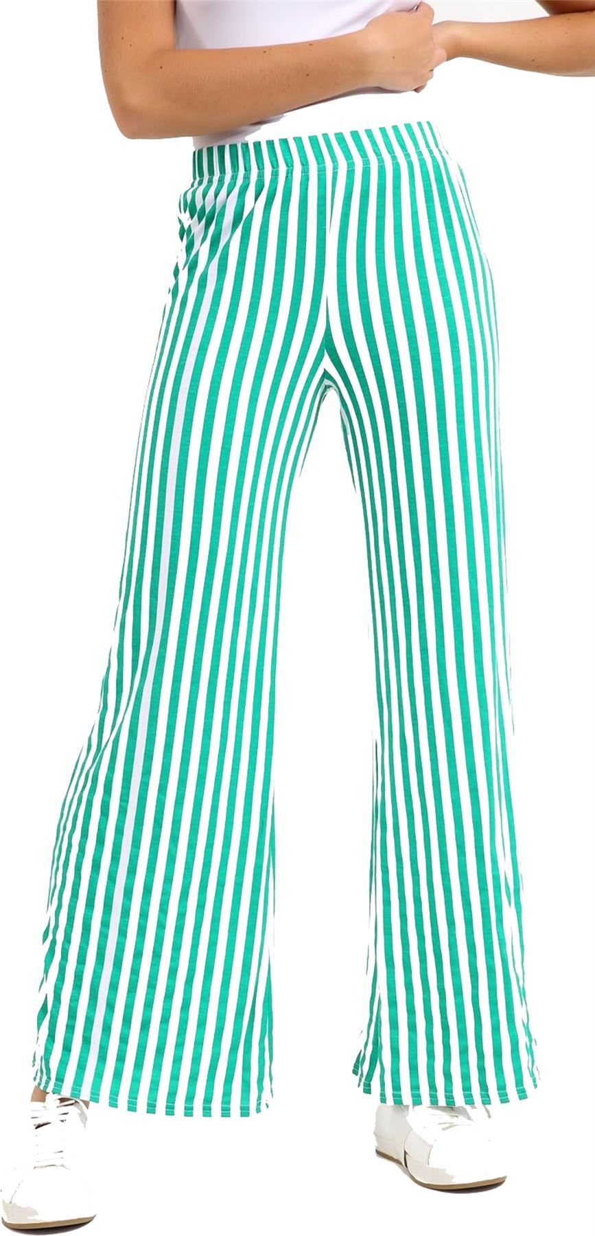 New-Ladies-Floral-Printed-Wide-Leg-Flared-Parallel-Baggy-Trousers-Pants-Palazzo thumbnail 17