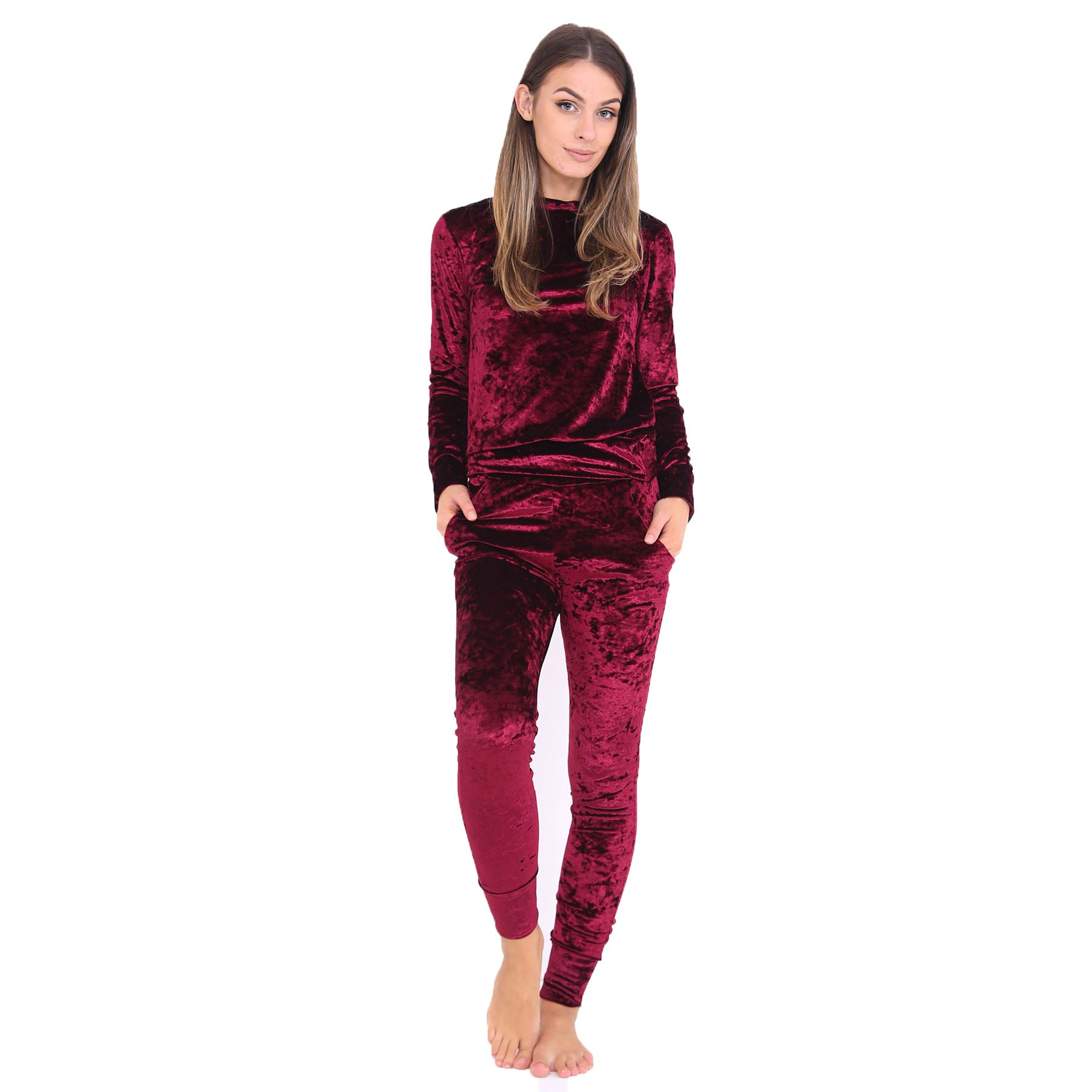 Overstock uses cookies to ensure you get the best experience on our site. If you continue on our site, you consent to the use of such cookies. Learn more. OK Loungewear. Clothing & Shoes / Women White Mark Women's Velour Lounge Suit. 32 Reviews. More Options. Quick View.