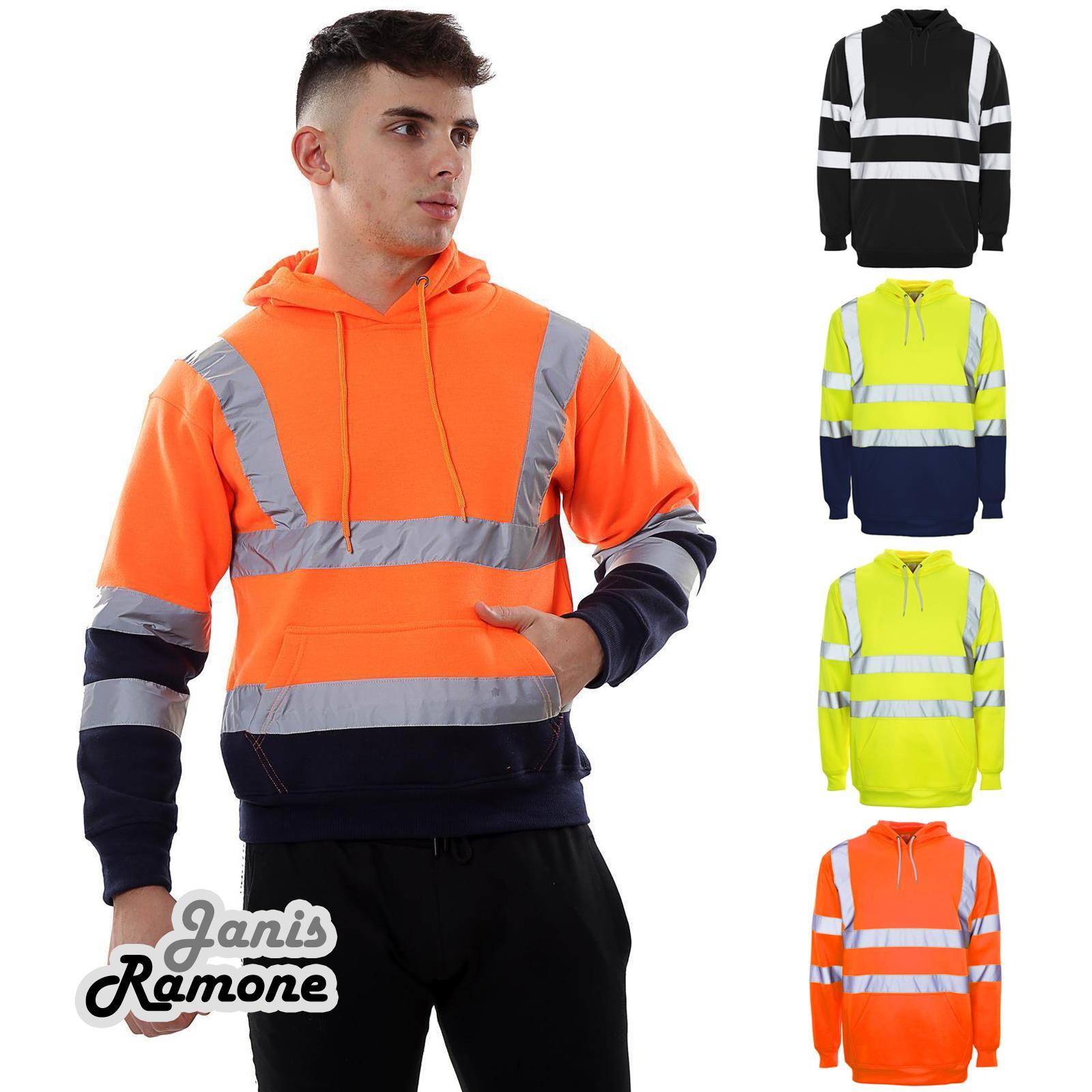 Men Hooded Jacket Sweatshirt Jumper PullOver Zipper Fleece Hoodie Work Safety