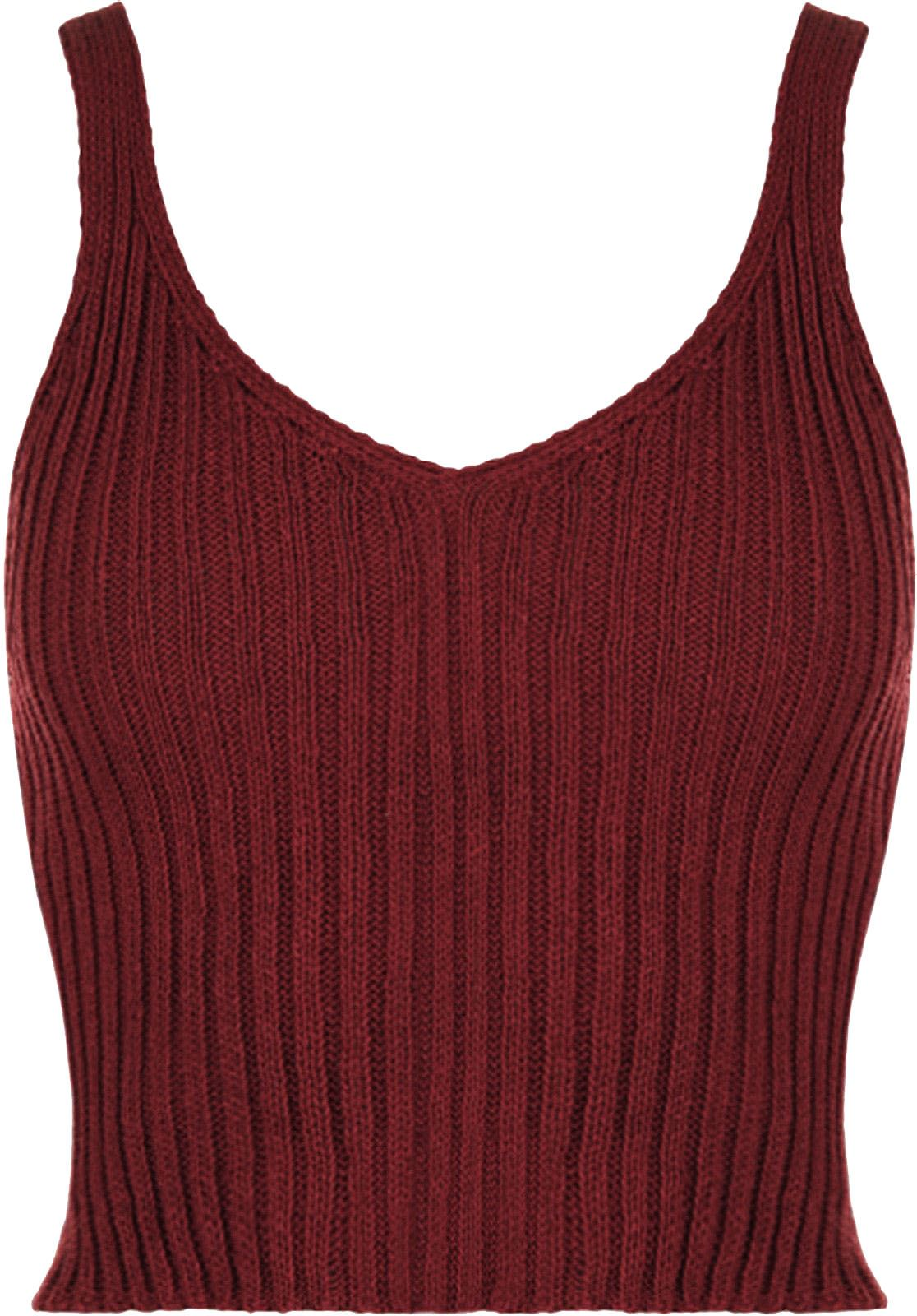 cddd56aa4ea42 New Women Ladies V Neck Knitted Ribbed Plain Bralet Crop Top Sleeveless  Vest Top