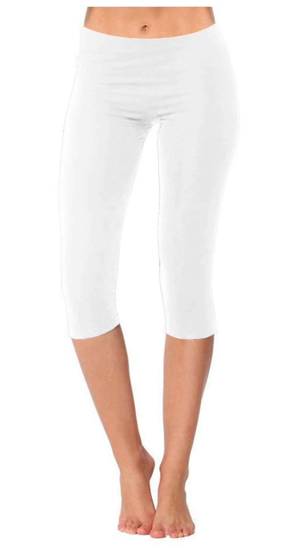 New-Girls-Kids-Gymnastics-Dance-Cotton-Plain-Cropped-3-4-Leggings-Capri-Pants miniatuur 13