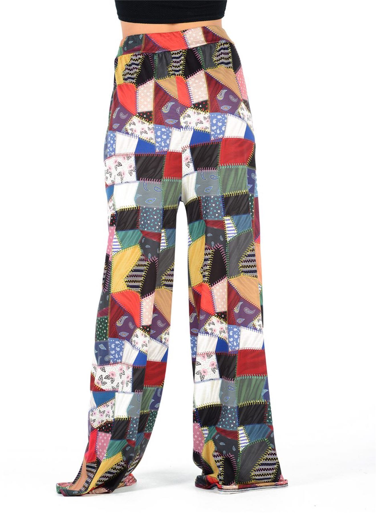 New-Ladies-Floral-Printed-Wide-Leg-Flared-Parallel-Baggy-Trousers-Pants-Palazzo thumbnail 71