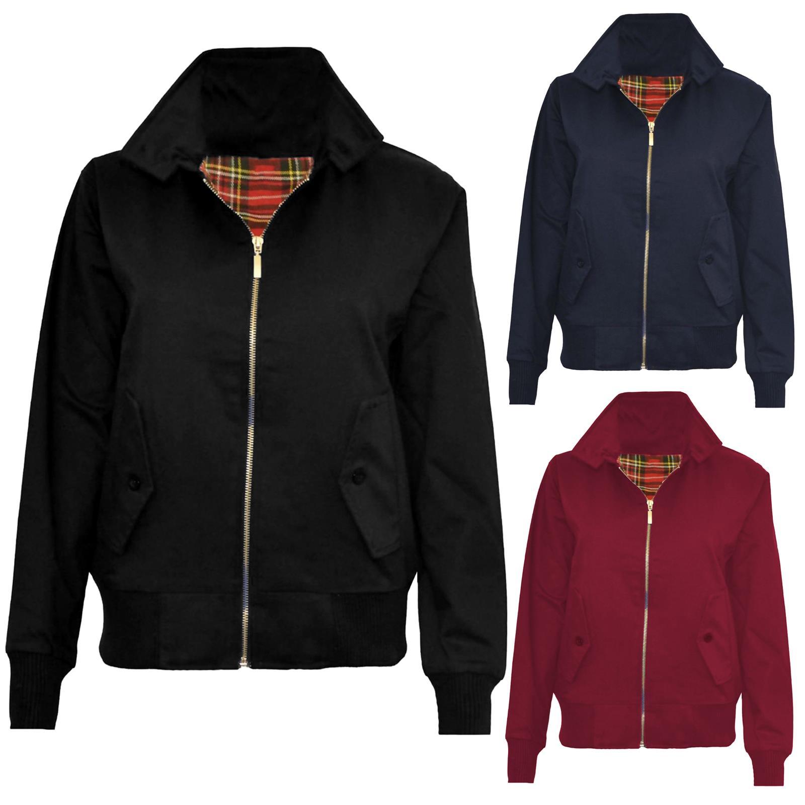 Harrington Mens Jacket Classic Retro Zip Jacket Vintage Coat Mod Bomber
