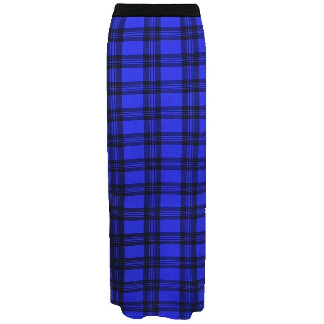 Femmes Dames Imprimé Jersey Bodycon élastiquée Waist Longue Gitan Maxi Jupe