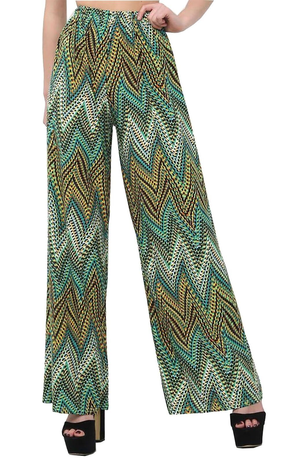 New-Ladies-Floral-Printed-Wide-Leg-Flared-Parallel-Baggy-Trousers-Pants-Palazzo thumbnail 12