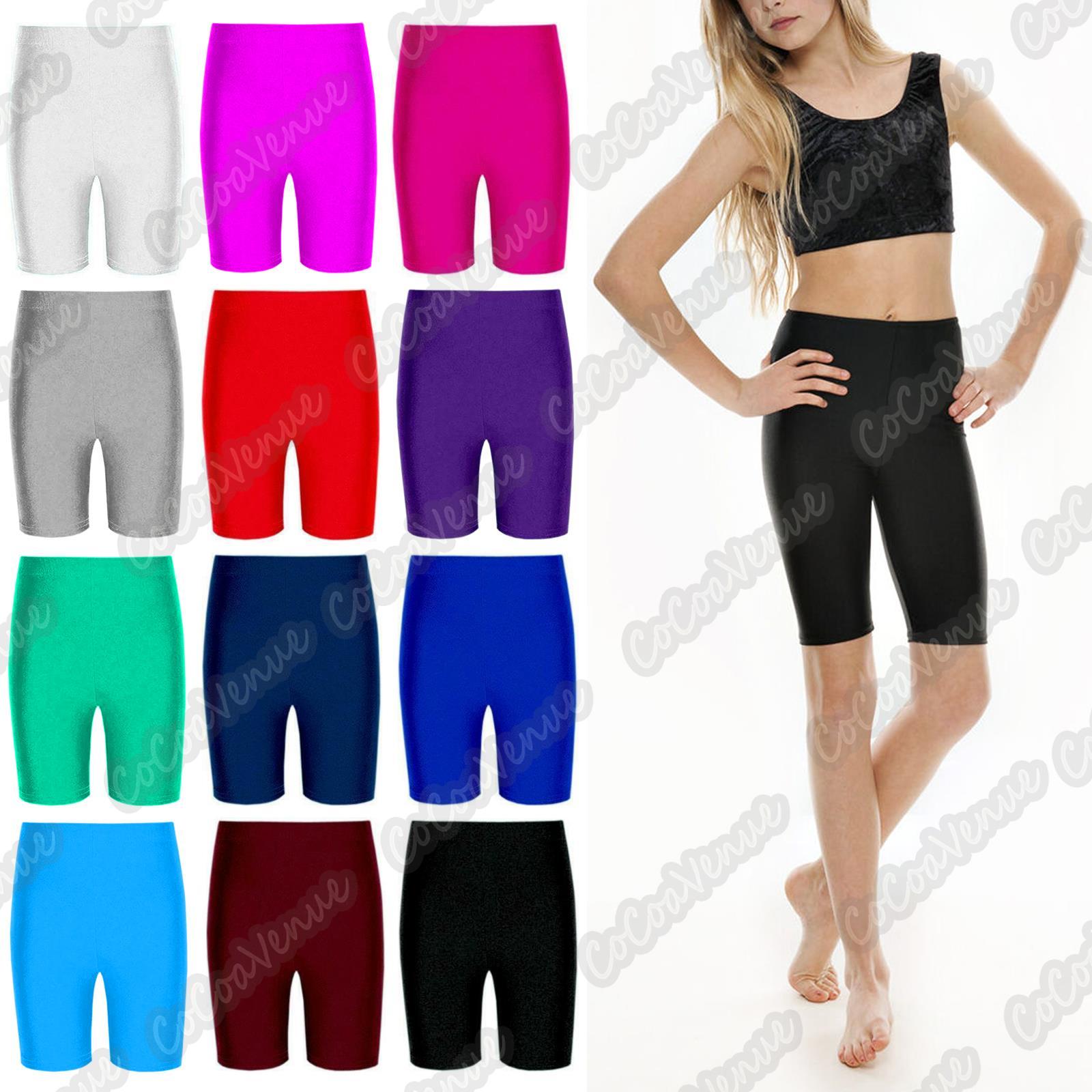 Girls Lycra Shorts Cycling Dance Sports P.E School Shorts SALE ON All Size £3.99