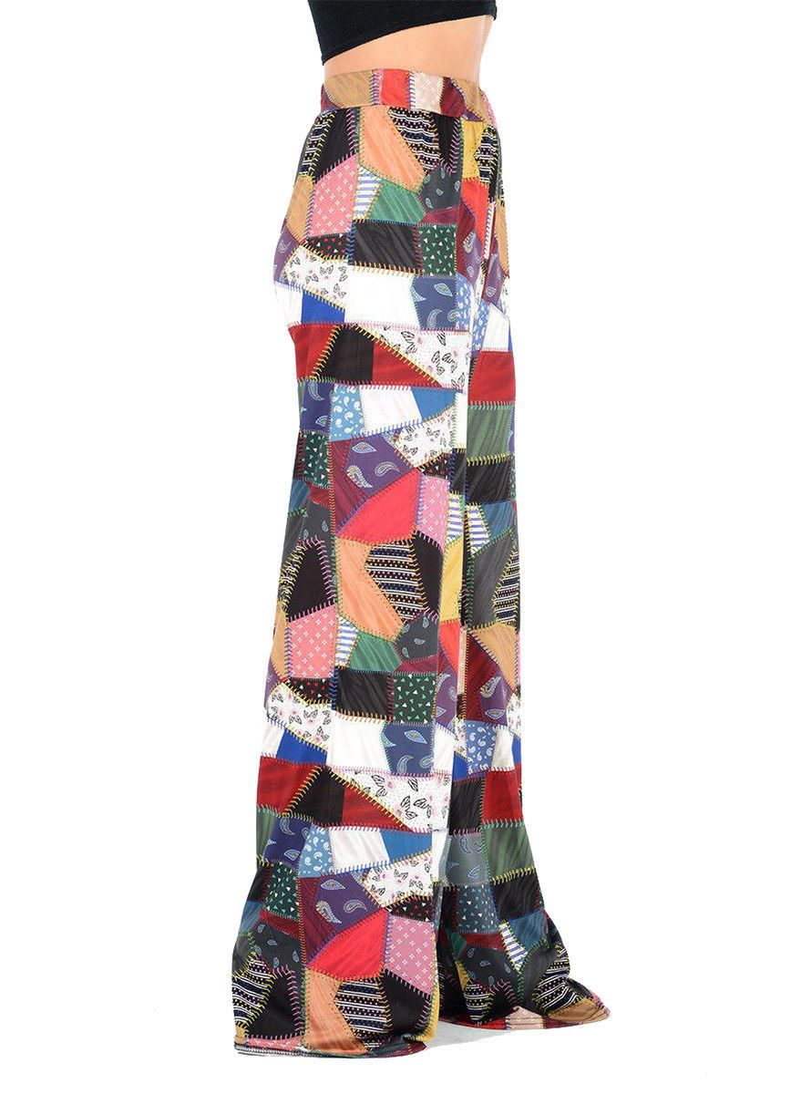 New-Ladies-Floral-Printed-Wide-Leg-Flared-Parallel-Baggy-Trousers-Pants-Palazzo thumbnail 72