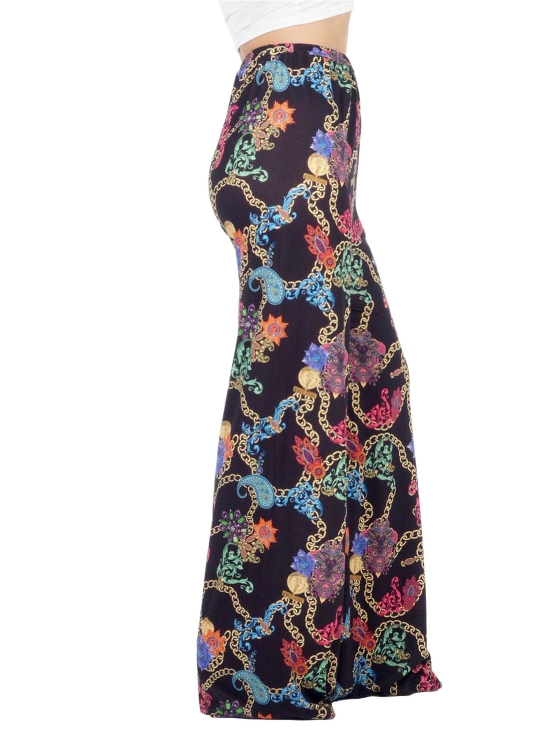 New-Ladies-Floral-Printed-Wide-Leg-Flared-Parallel-Baggy-Trousers-Pants-Palazzo thumbnail 76