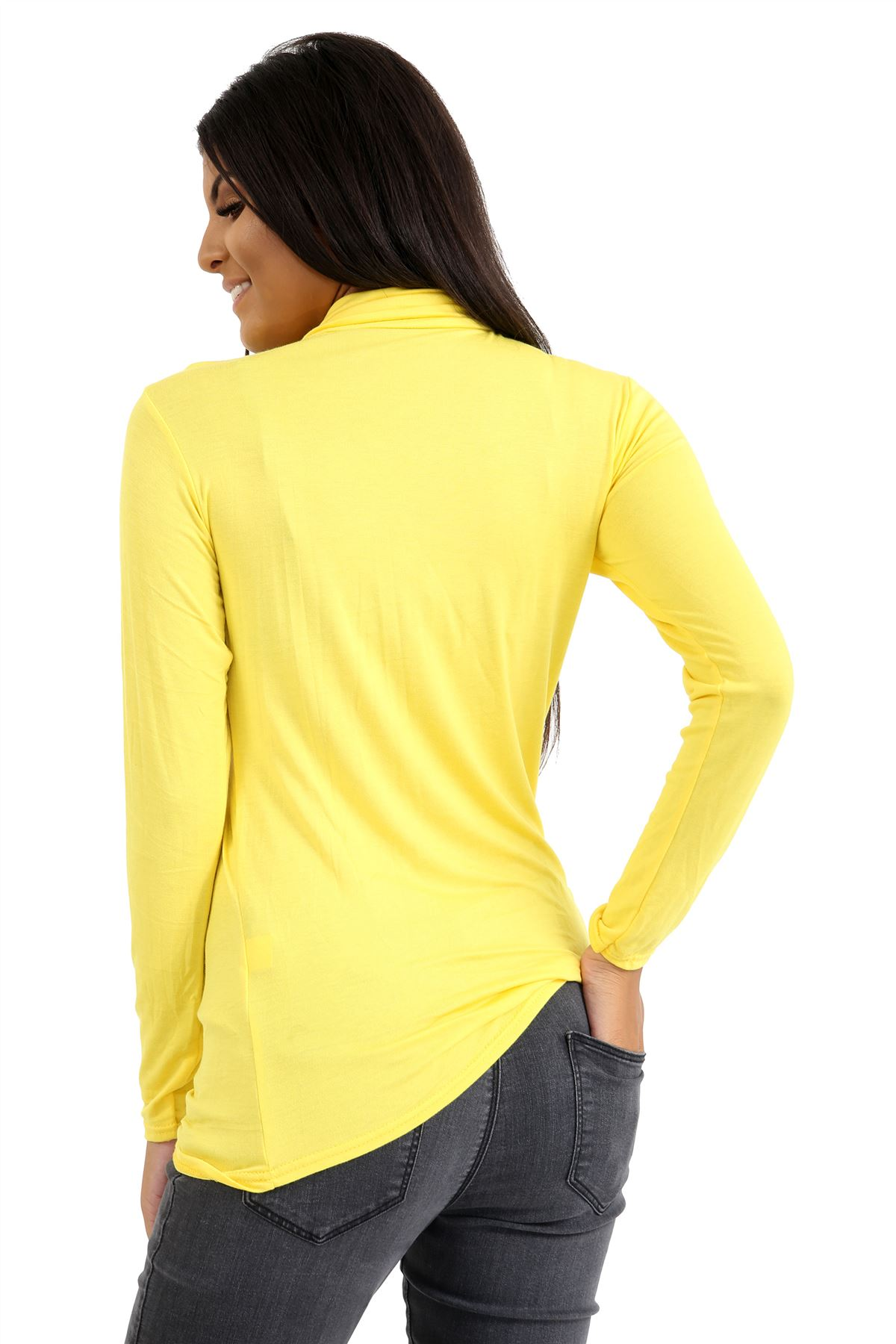 New-Ladies-Long-Sleeve-Plain-Turtle-Polo-Roll-Neck-Stretch-Jumper-T-Shirt-TeeTop thumbnail 137