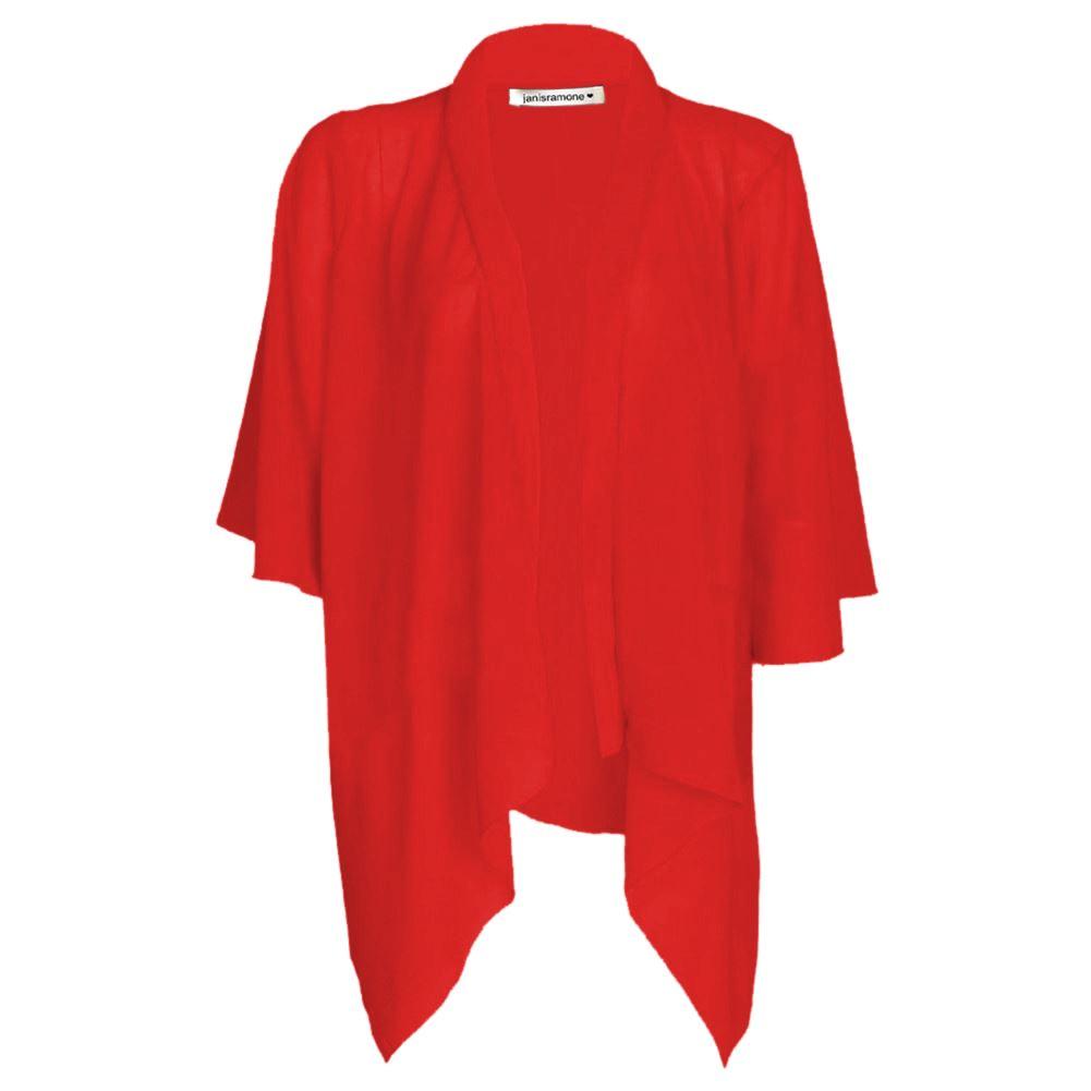 NUOVA linea donna Plain Chiffon Kimono Donna Cardigan Bolero Aperta Cascata Top 8-26