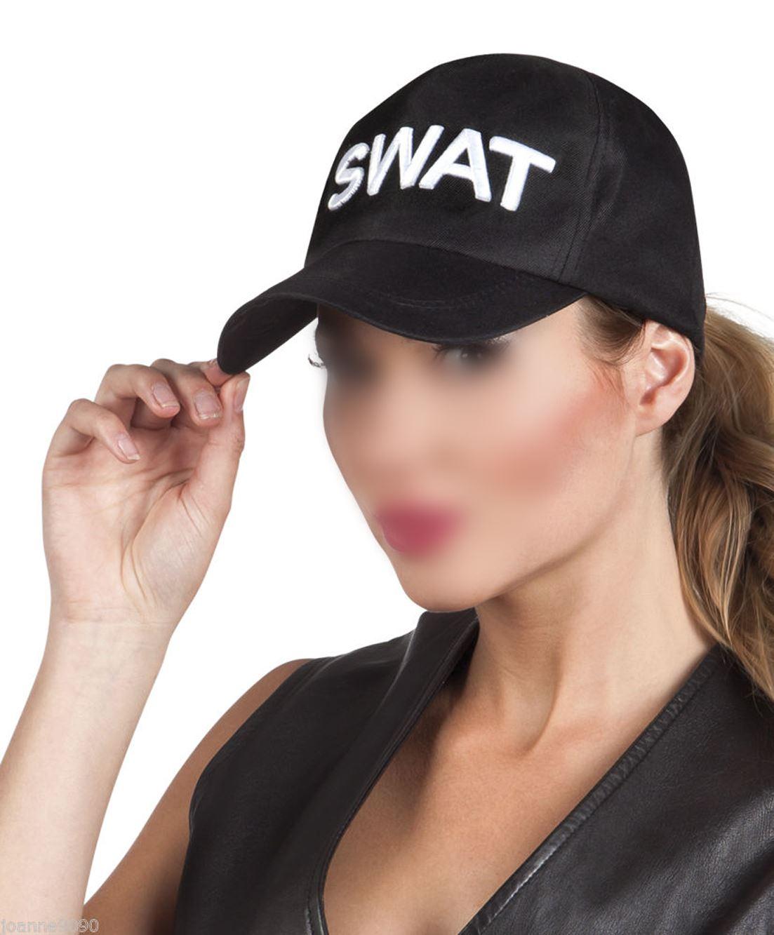 Adulto ufficiale di Polizia Swat Gilet Da Uomo Costume FBI Poliziotta COMANDANTE DELLA SQUADRA Costume