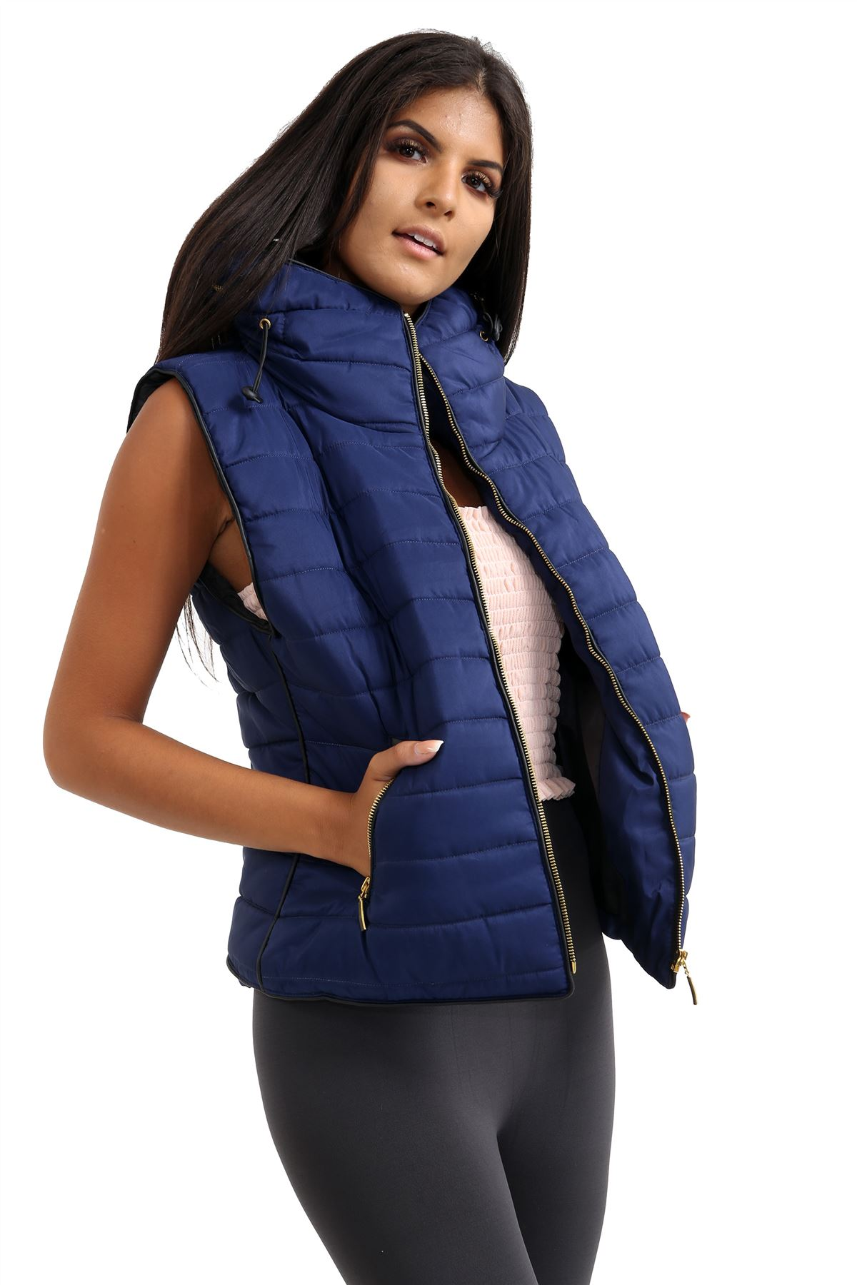 Ladies-Gilet-Quilted-Padded-Body-Warmer-Sleeveless-Fur-Collar-Puffer-Jacket-Coat thumbnail 16