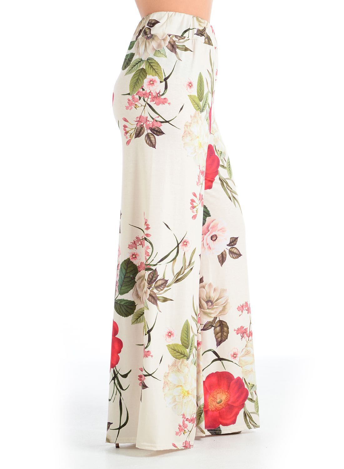 New-Ladies-Floral-Printed-Wide-Leg-Flared-Parallel-Baggy-Trousers-Pants-Palazzo thumbnail 27