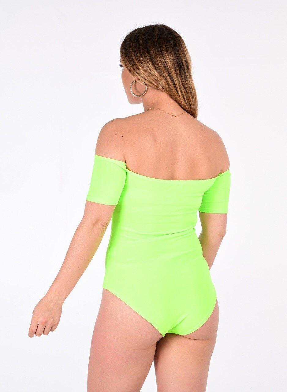 Womens Plain Off Shoulder Cap Sleeve Bardot Basic Stretchy Bodysuit Leotard Top