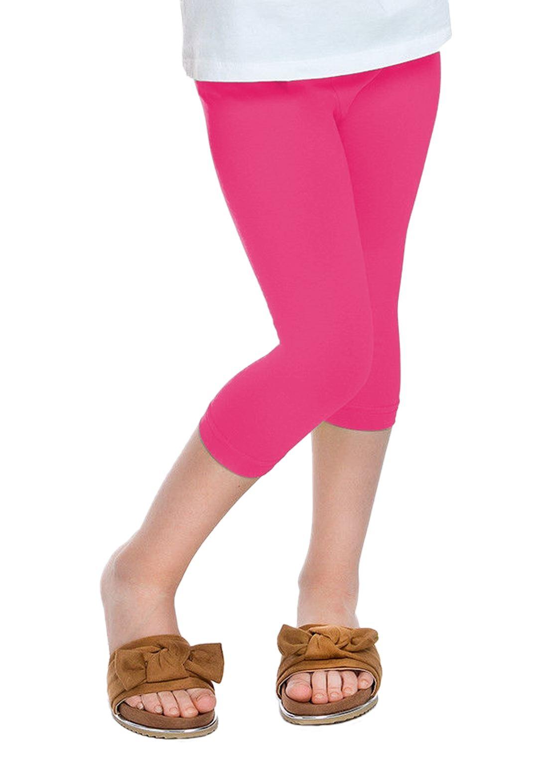 Janisramone Children Girls New Plain Basic Cotton Thick Full Length Leggings Stretch Party Pants All Ages
