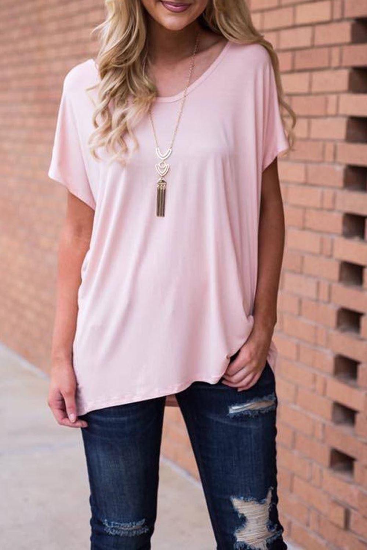 New-Womens-Plain-Slash-Neck-Off-Shoulder-Short-Sleeve-Baggy-Oversize-T-Shirt-Top