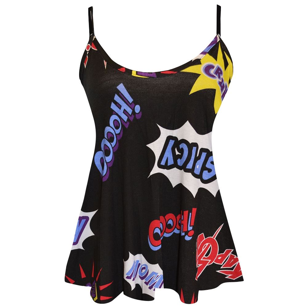 New-Womens-Printed-Sleeveless-Camisole-Strappy-Flared-Swing-Cami-Summer-Vest-Top