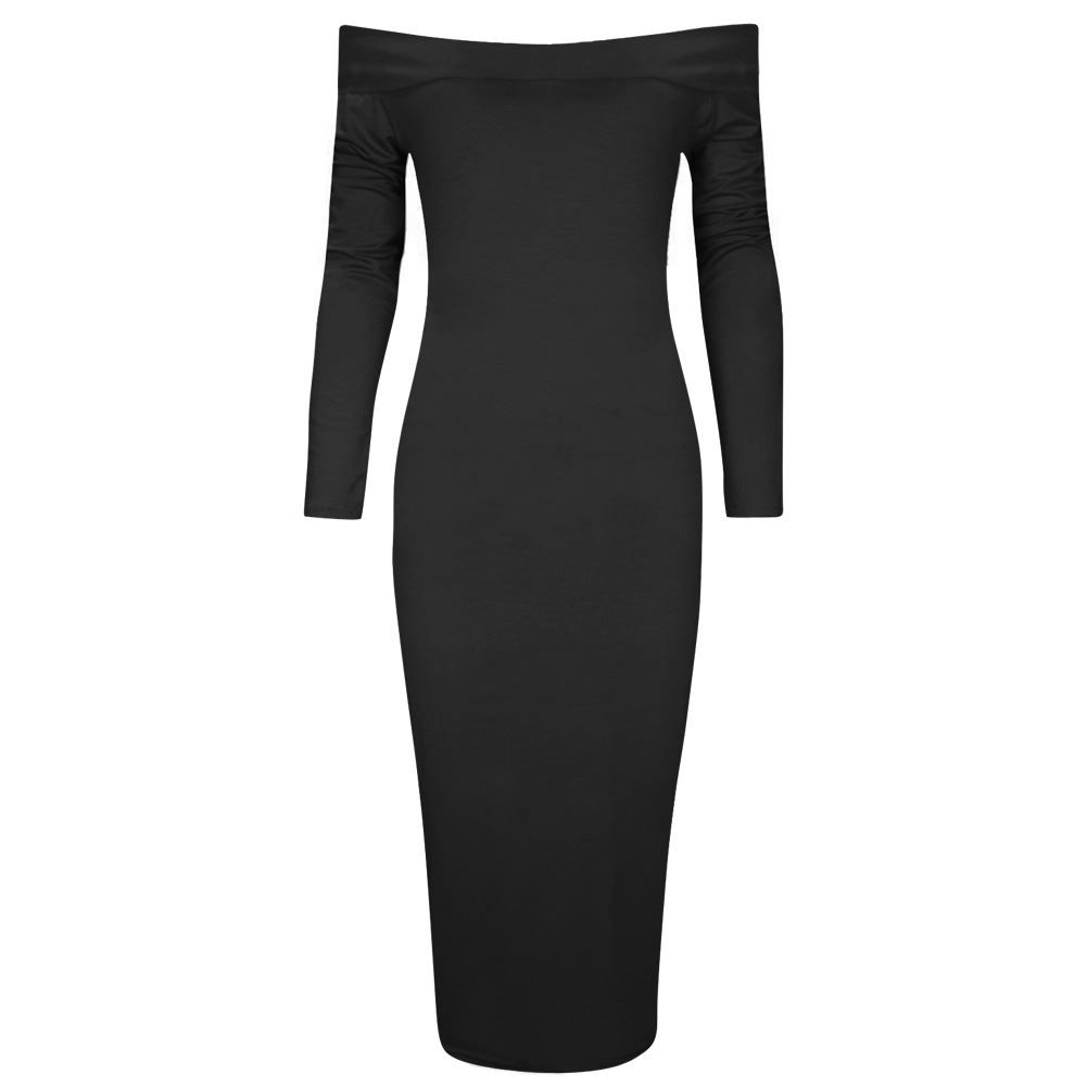 Black bodycon dress long sleeve ebay official site