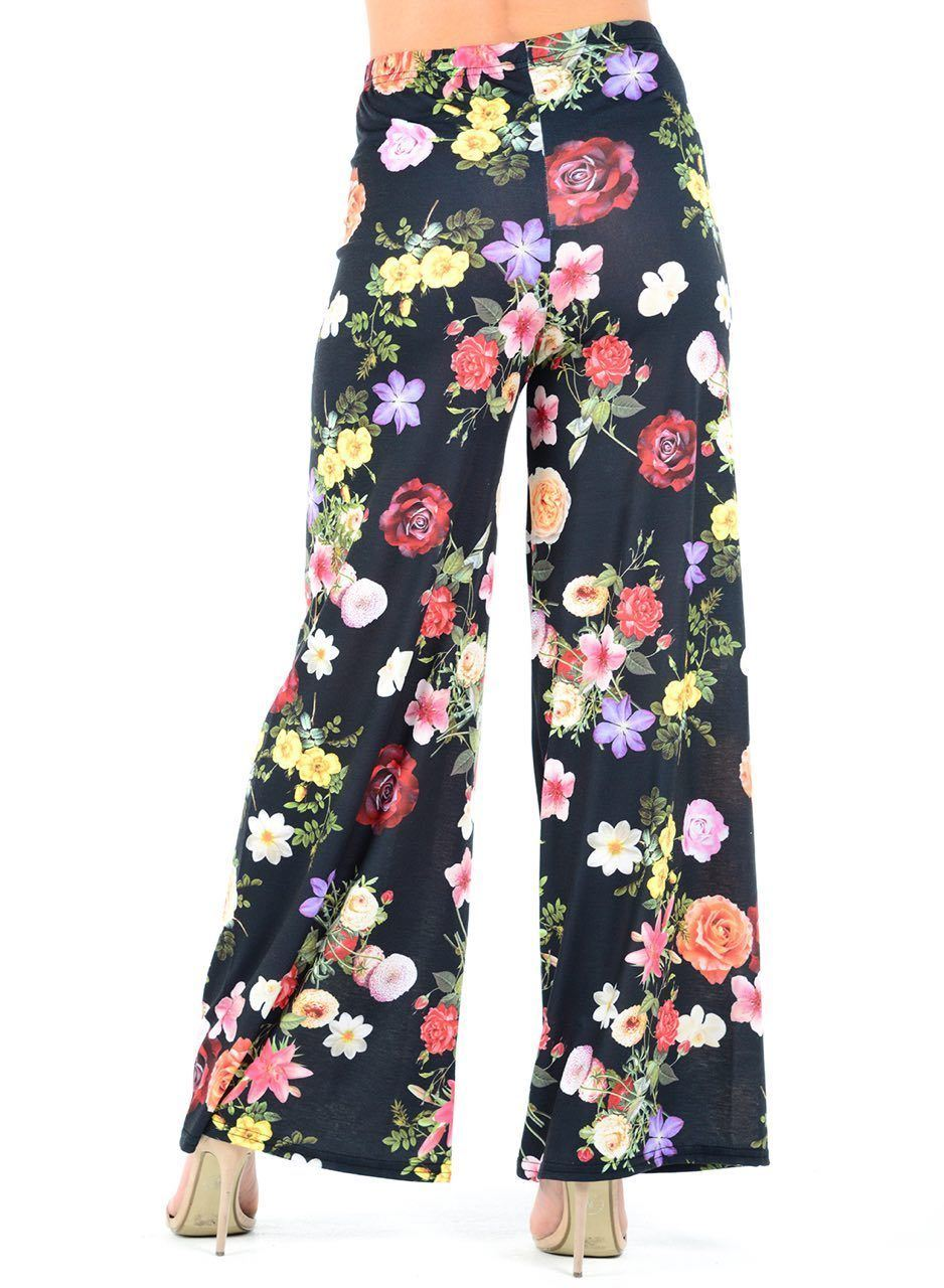 New-Ladies-Floral-Printed-Wide-Leg-Flared-Parallel-Baggy-Trousers-Pants-Palazzo thumbnail 84