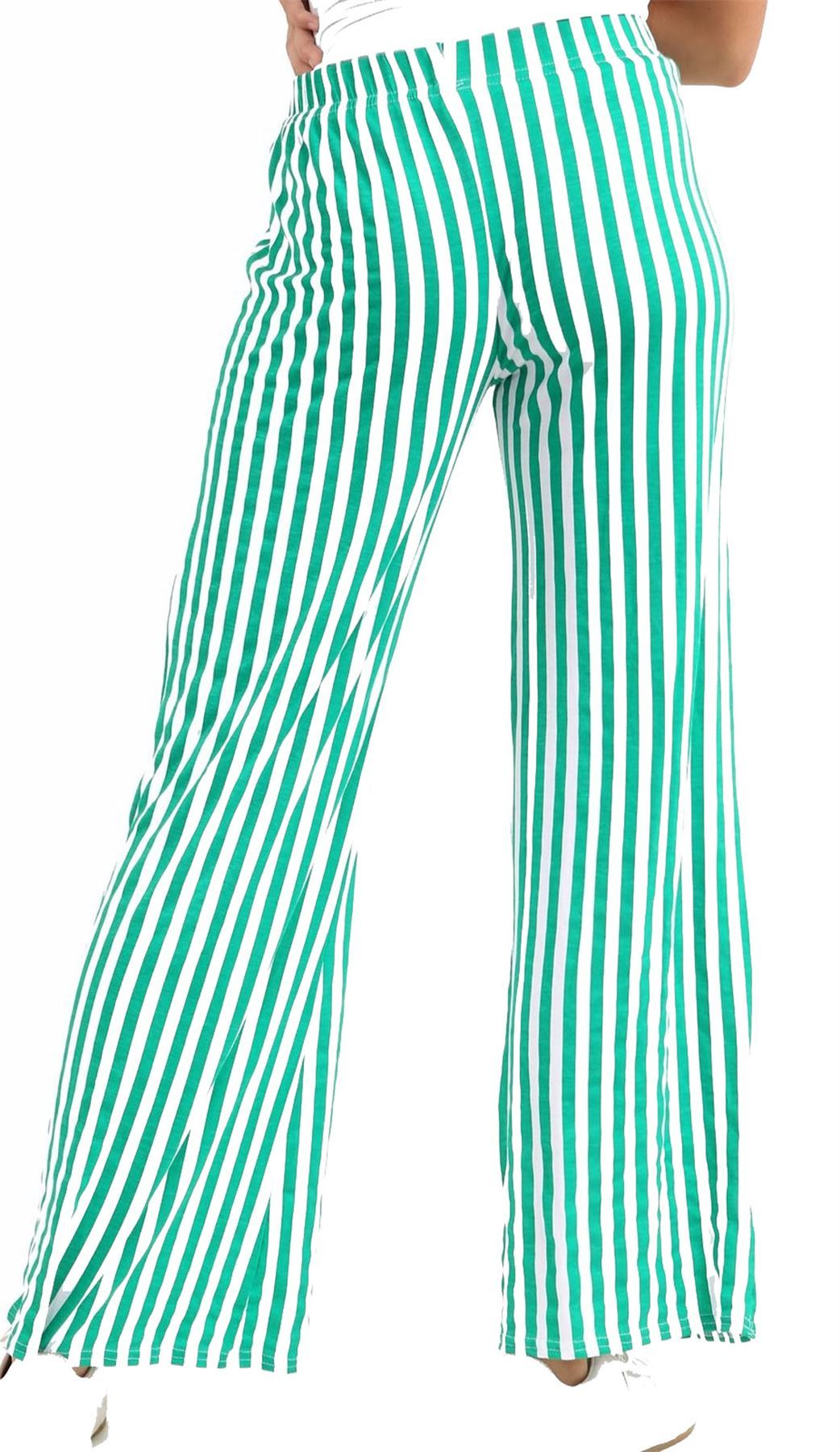 New-Ladies-Floral-Printed-Wide-Leg-Flared-Parallel-Baggy-Trousers-Pants-Palazzo thumbnail 18