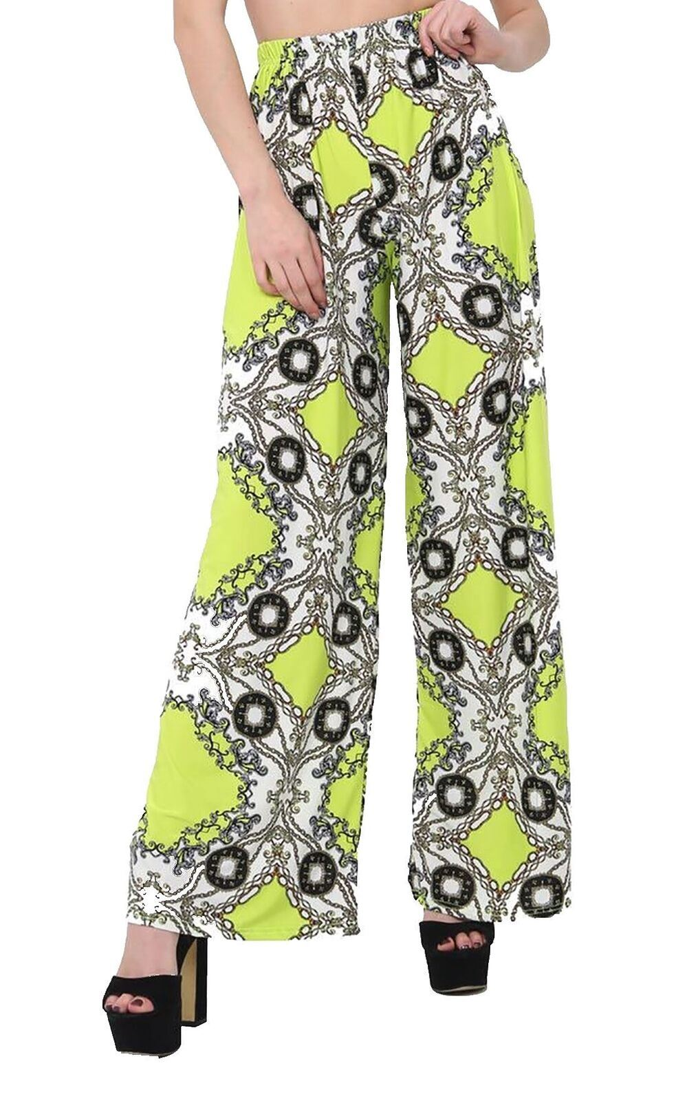 New-Ladies-Floral-Printed-Wide-Leg-Flared-Parallel-Baggy-Trousers-Pants-Palazzo thumbnail 66