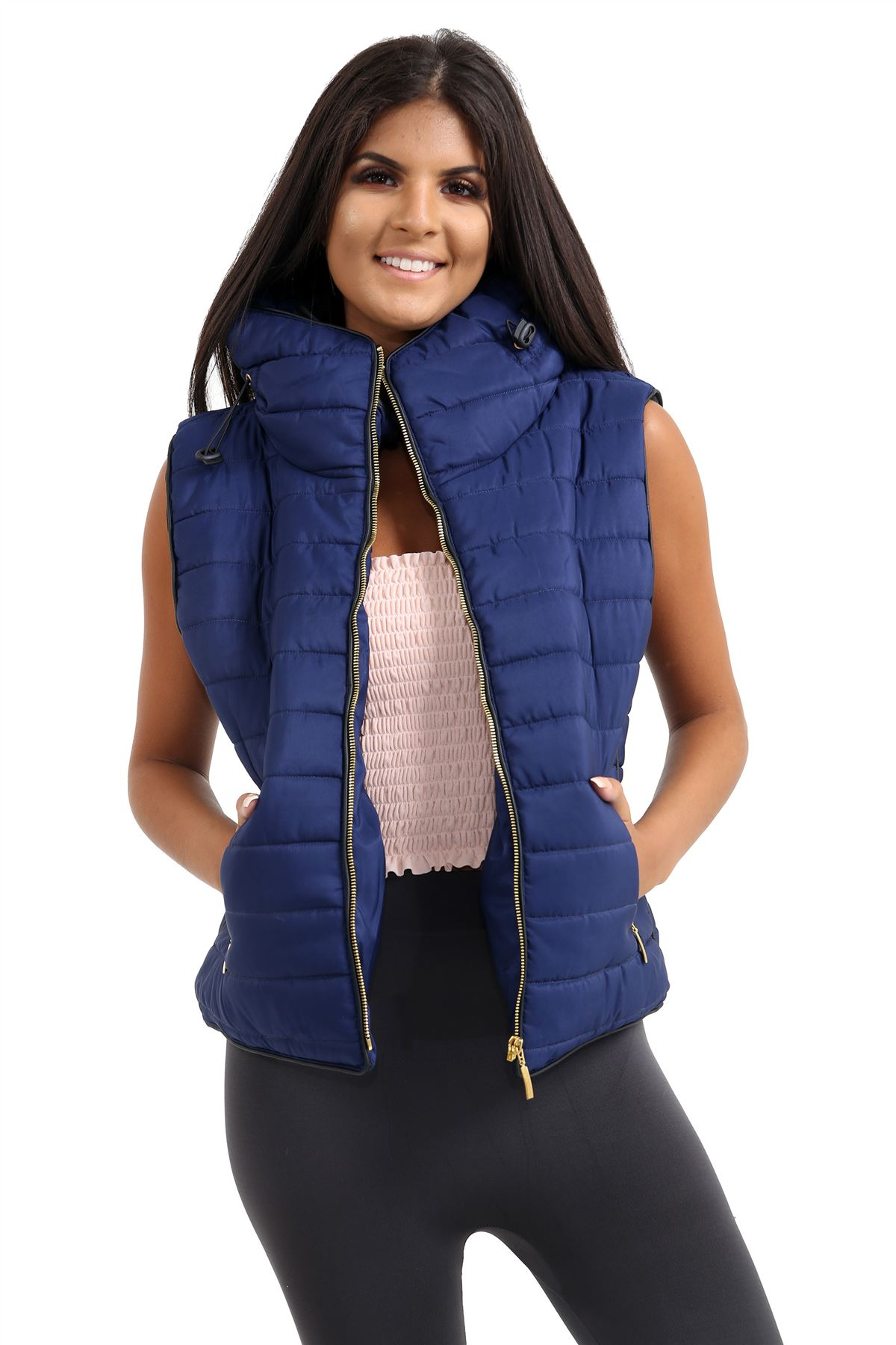 Ladies-Gilet-Quilted-Padded-Body-Warmer-Sleeveless-Fur-Collar-Puffer-Jacket-Coat thumbnail 15