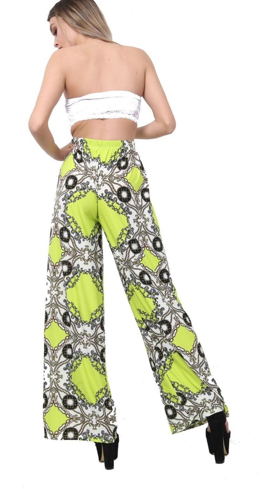 New-Ladies-Floral-Printed-Wide-Leg-Flared-Parallel-Baggy-Trousers-Pants-Palazzo thumbnail 68